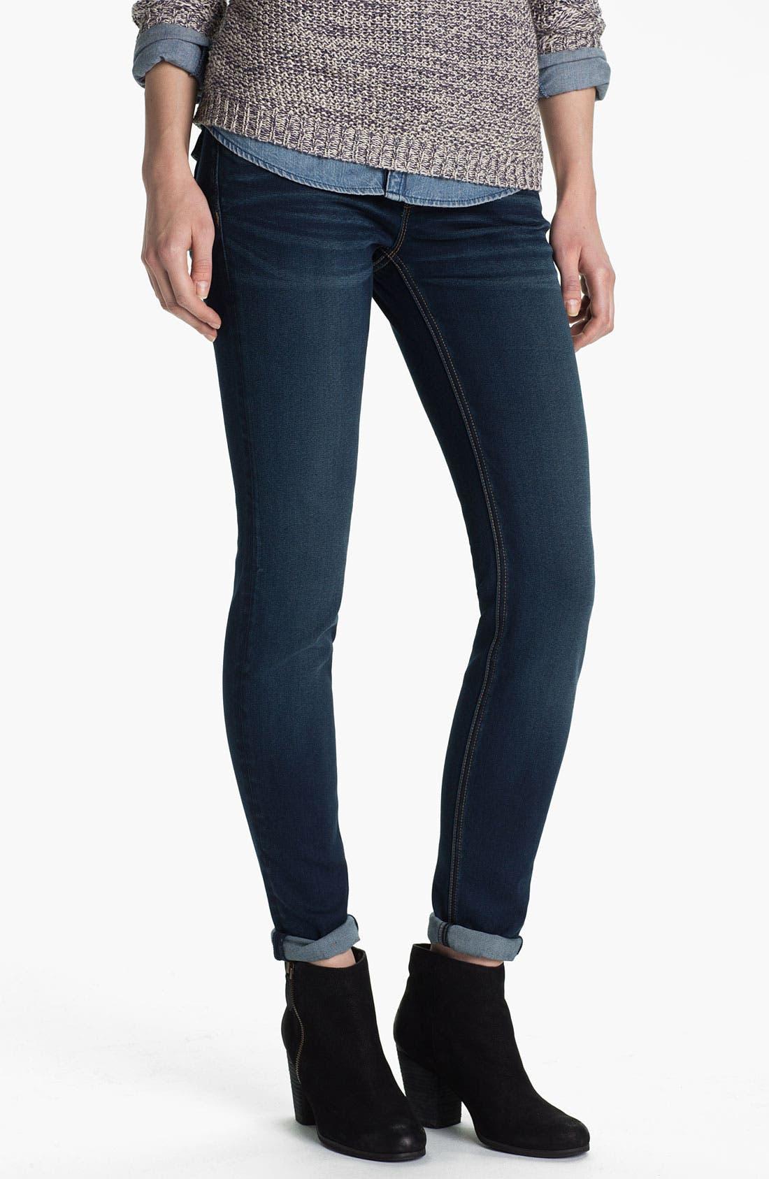 Alternate Image 2  - Vigoss Flap Pocket Skinny Stretch Jeans (Juniors)