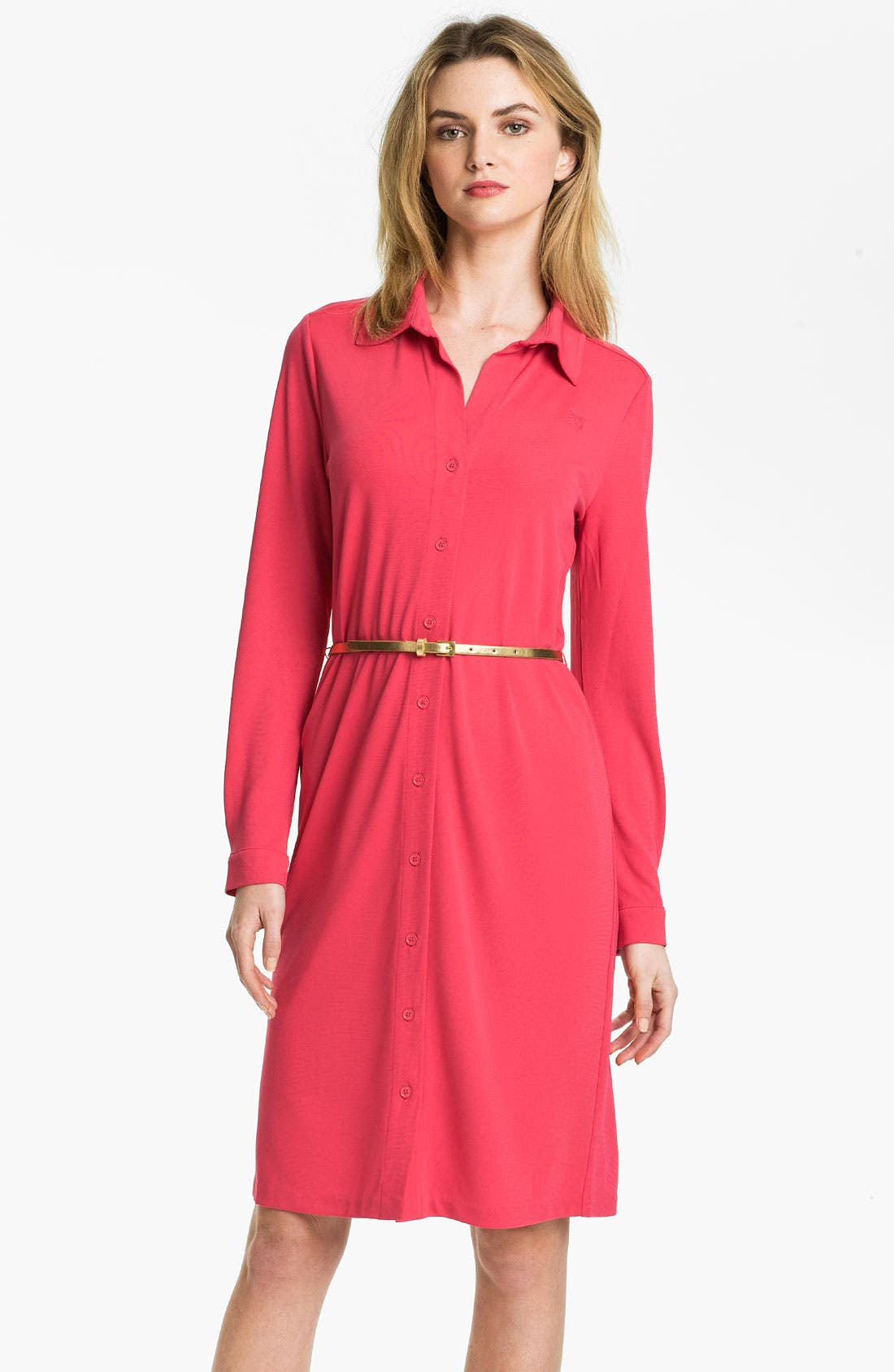 Main Image - Anne Klein Belted Shirtdress (Online Exclusive)