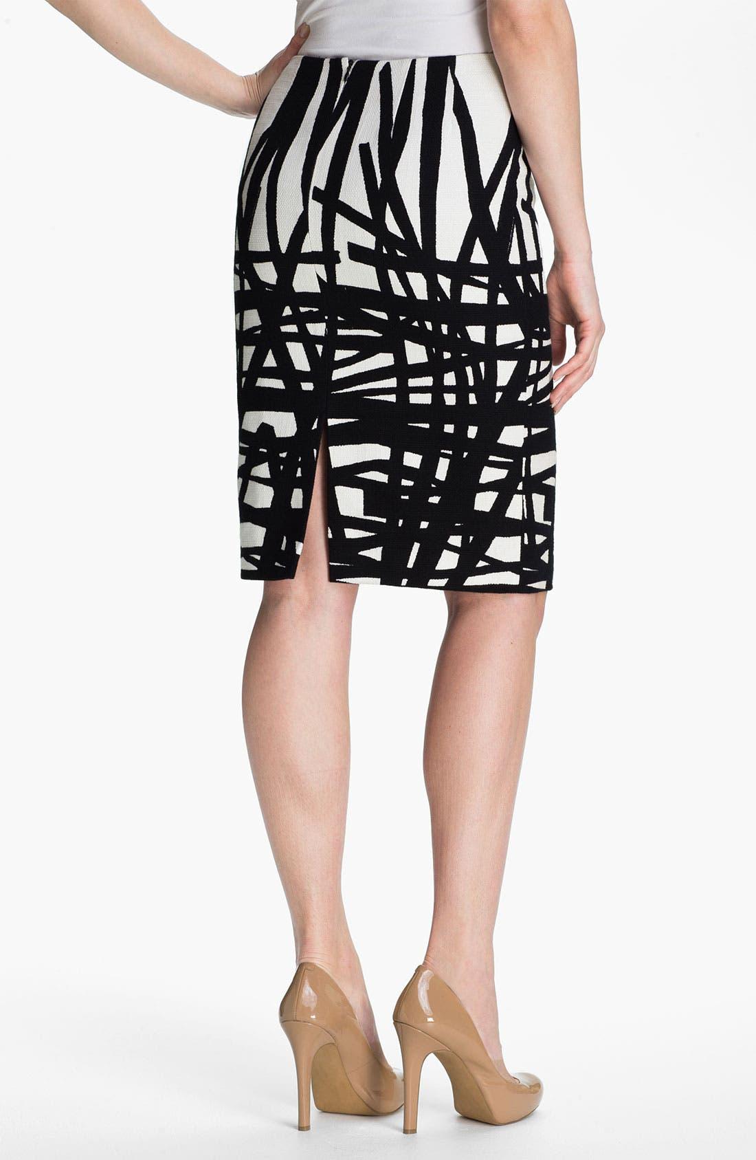 Alternate Image 2  - Lafayette 148 New York 'Profound Stroke' Print Skirt