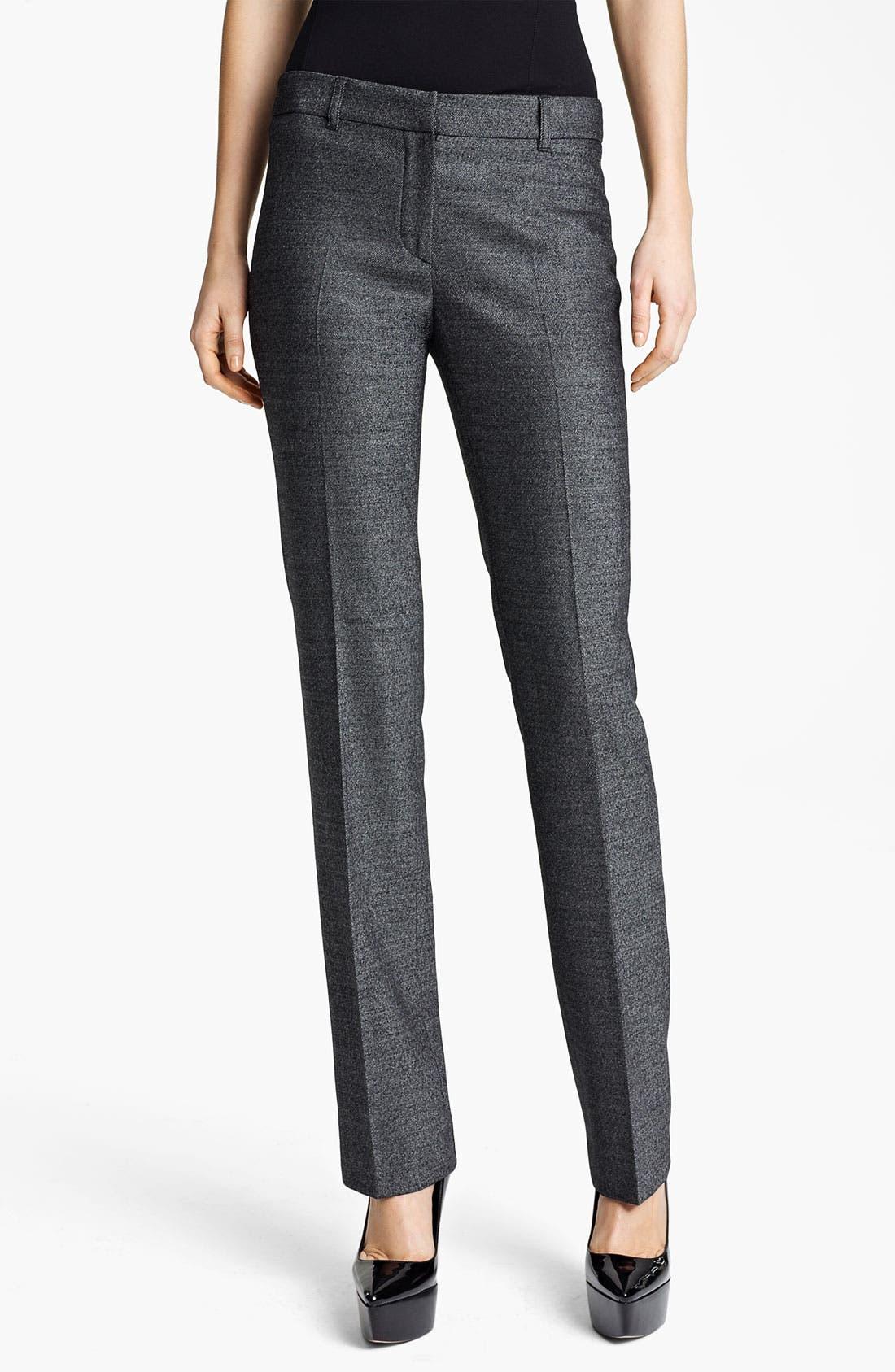 Alternate Image 1 Selected - Burberry London Metallic Wool Pants
