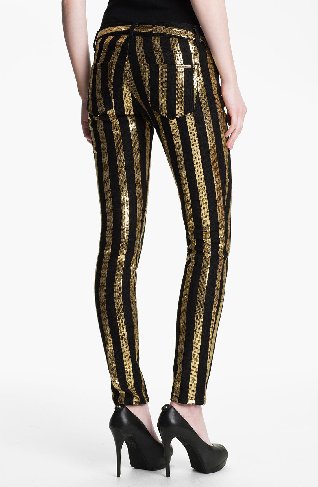 Alternate Image 2  - MICHAEL Michael Kors Sequin Stripe Jeans