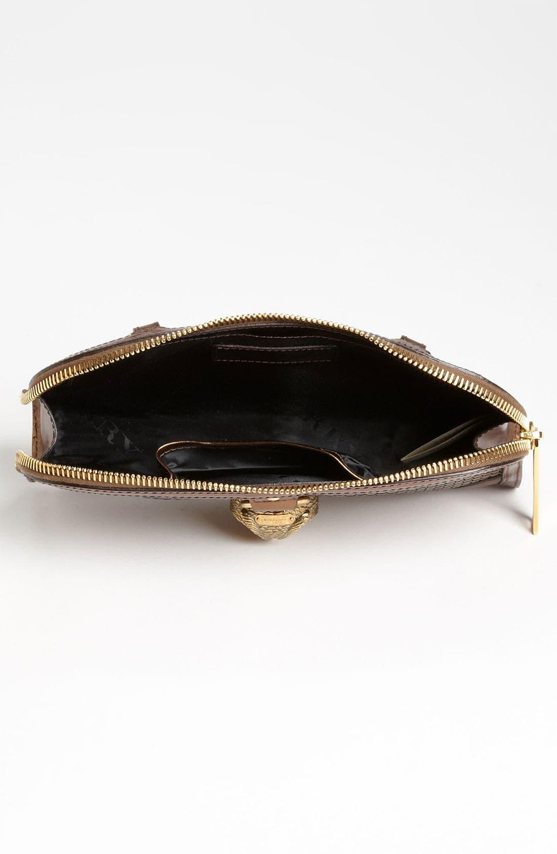 Alternate Image 3  - Burberry 'Metallic Woven' Leather Clutch