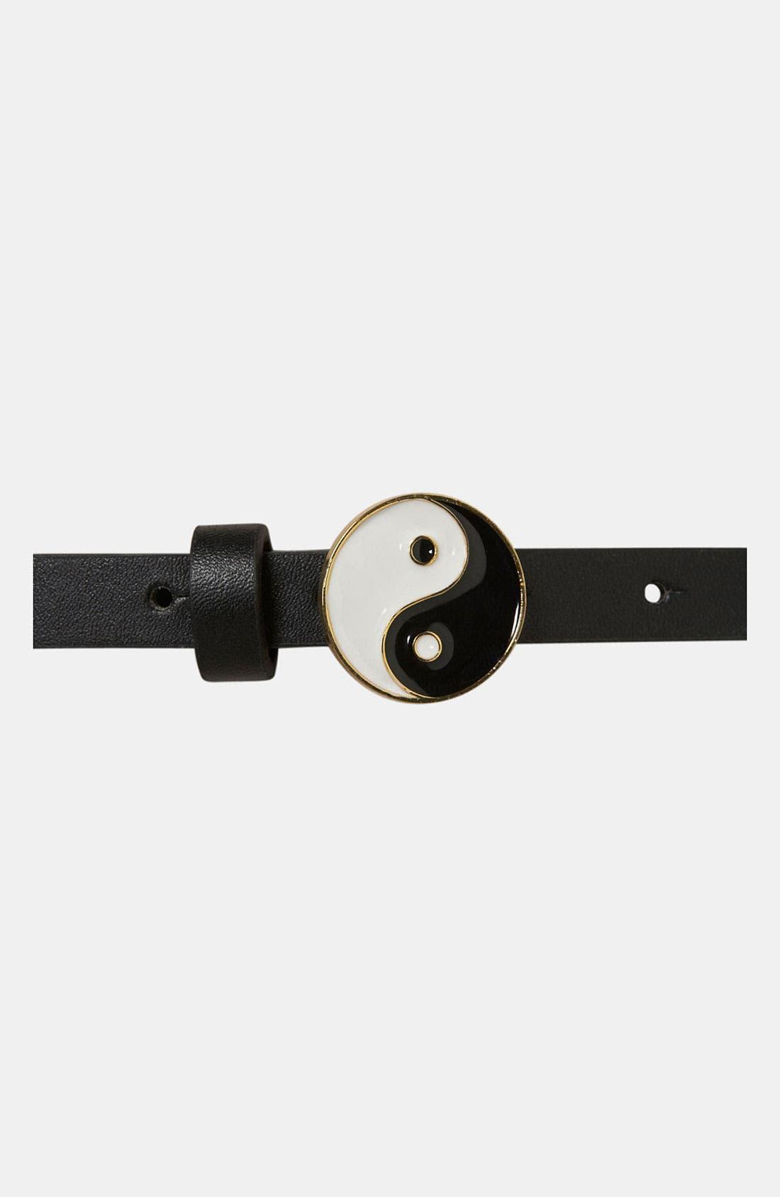 Alternate Image 3  - Topshop 'Yin Yang' Skinny Belt
