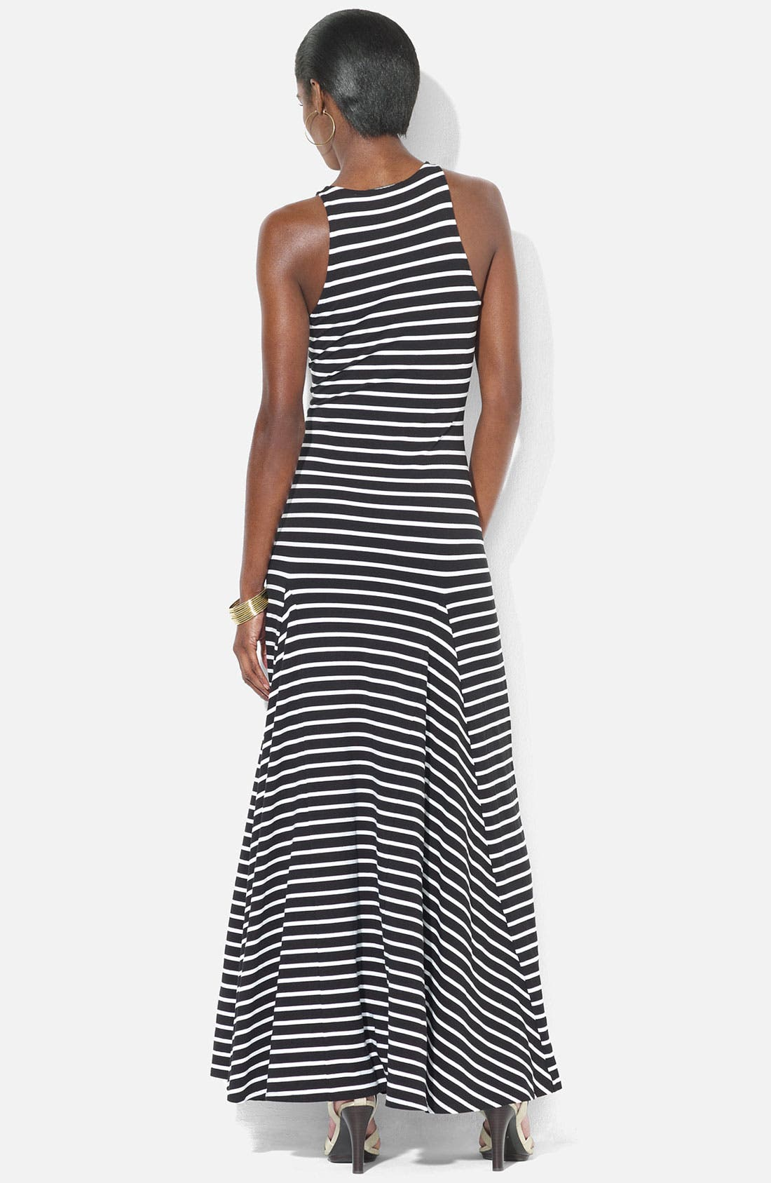 Alternate Image 2  - Lauren Ralph Lauren Stripe Maxi Dress (Petite)