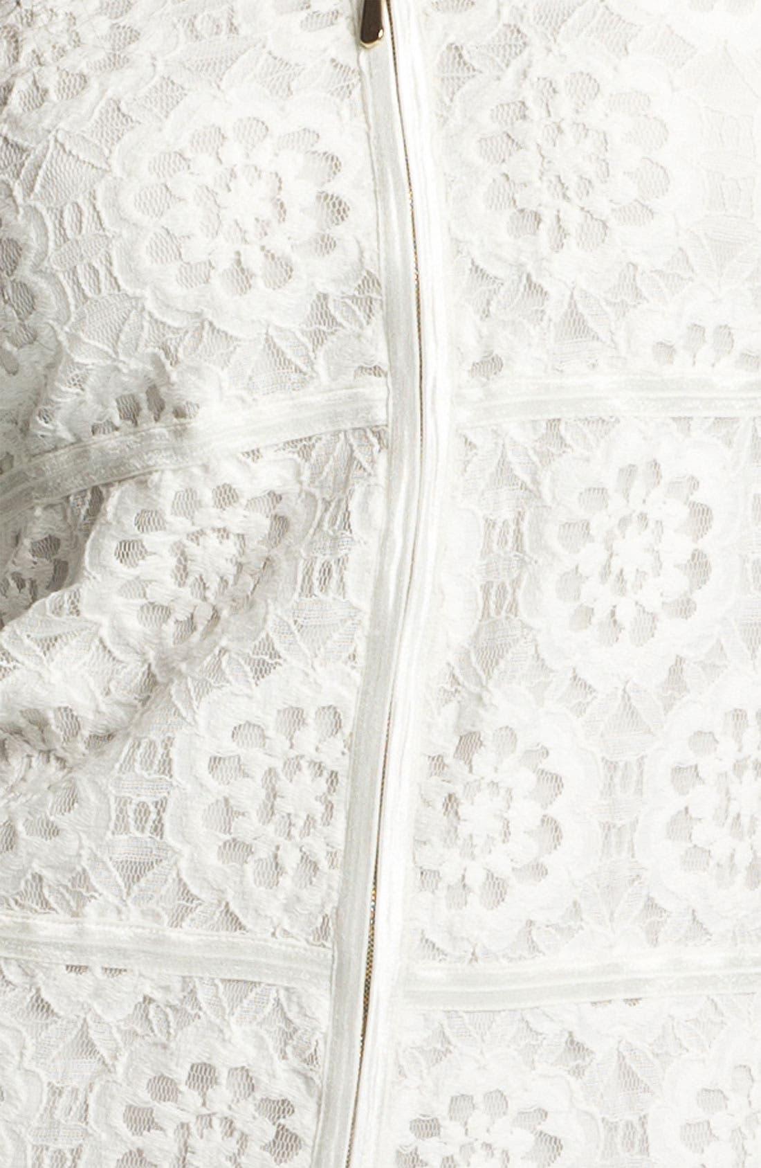 Alternate Image 3  - Laundry by Shelli Segal Illusion Sleeve Lace Dress