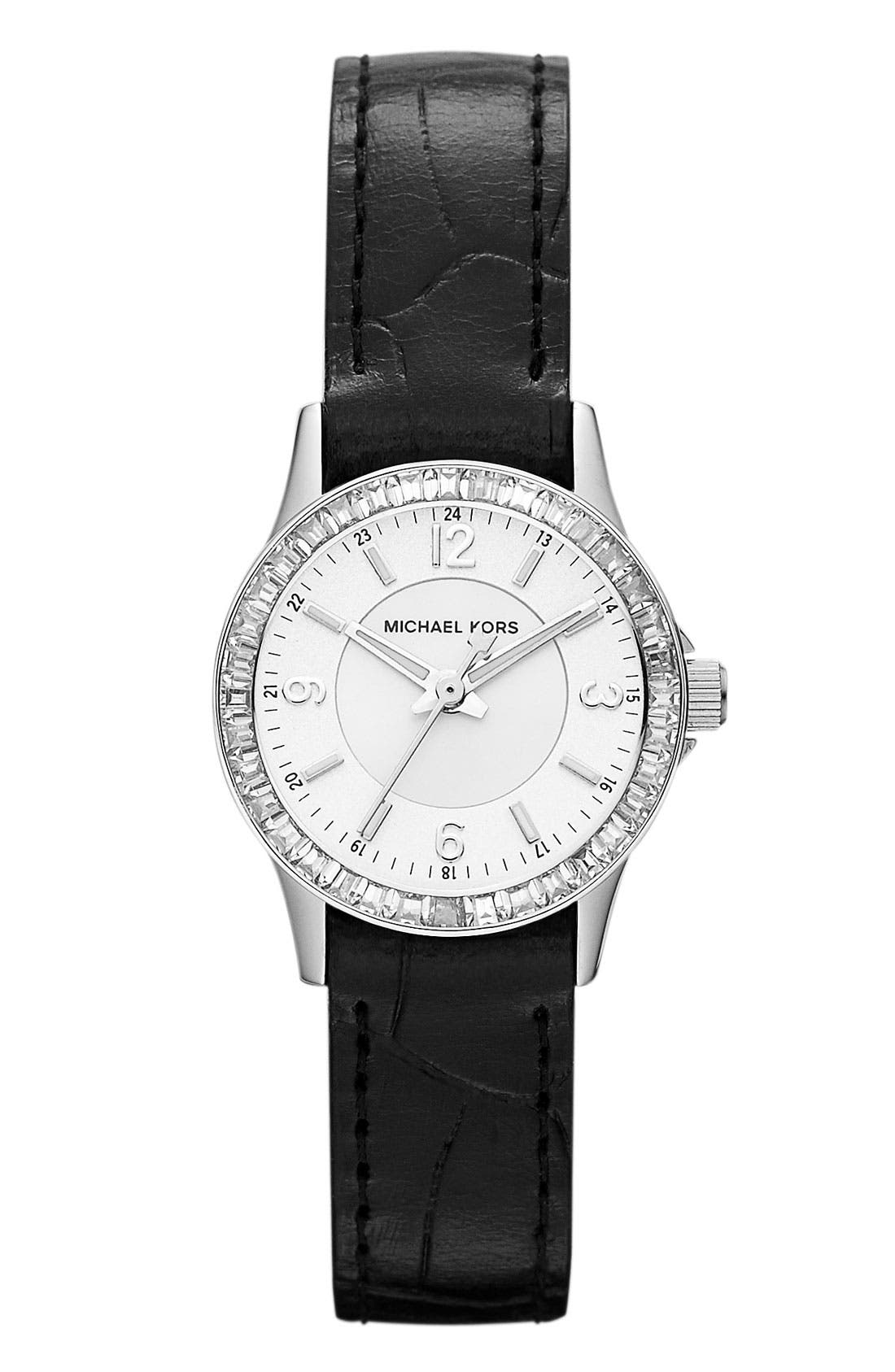 Alternate Image 1 Selected - Michael Kors Crystal Topring Watch