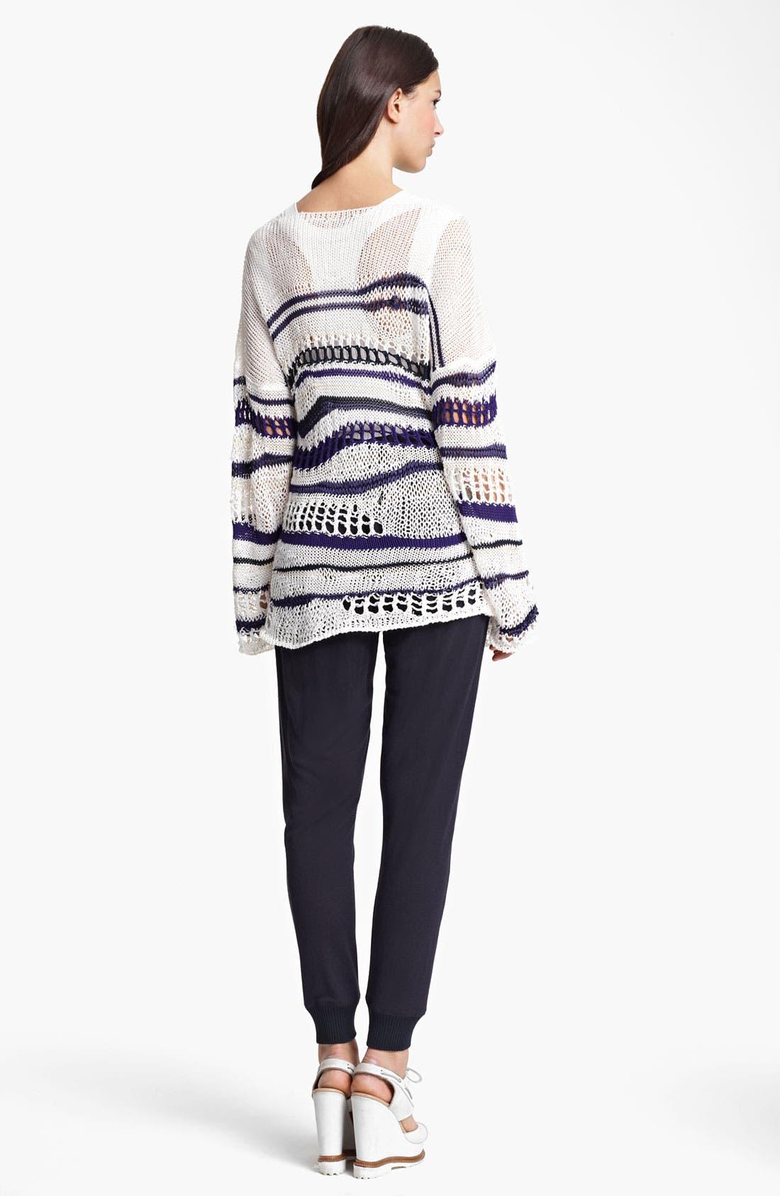 Alternate Image 3  - Jean Paul Gaultier Fuzzi Stripe Open Knit Sweater