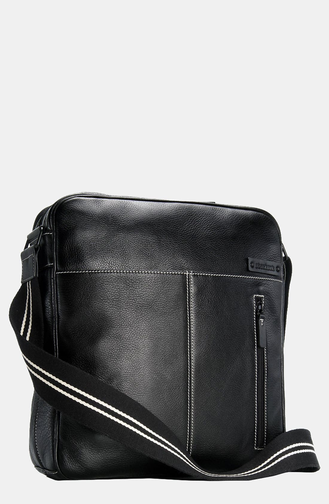 Alternate Image 1 Selected - Storksak 'Jamie' Leather Diaper Bag