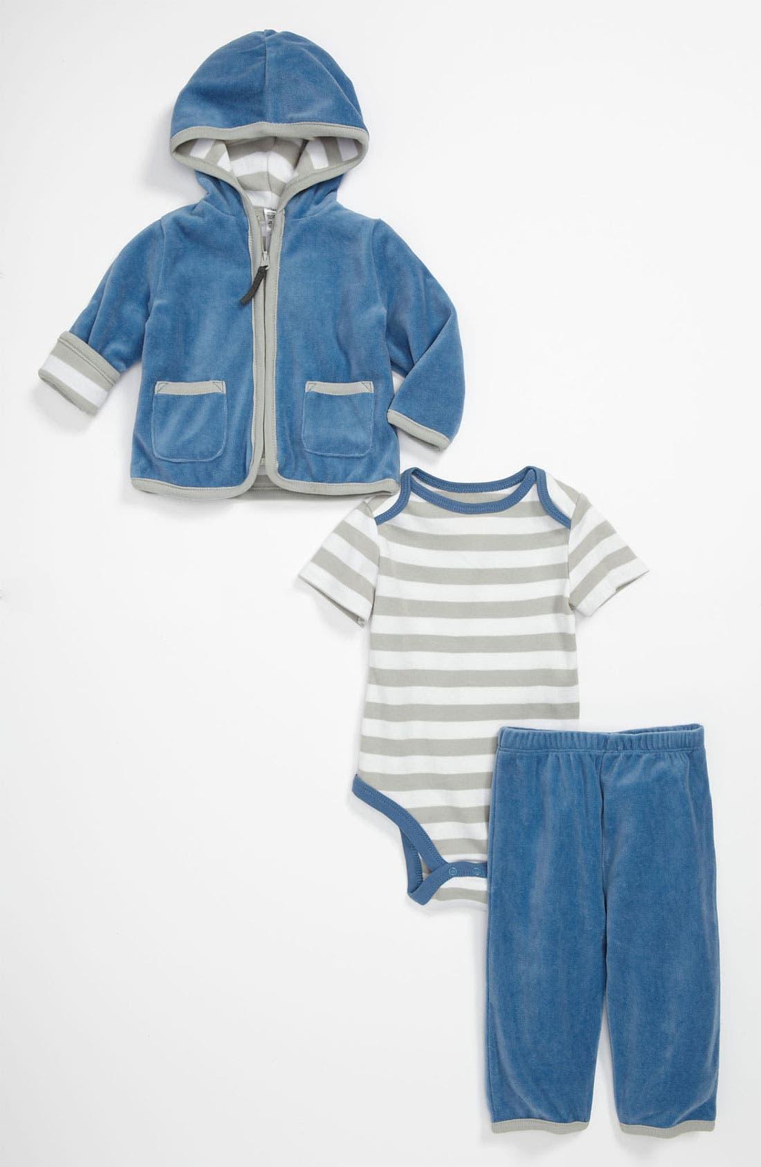 Main Image - Offspring Bodysuit, Hoodie & Pants (Infant)