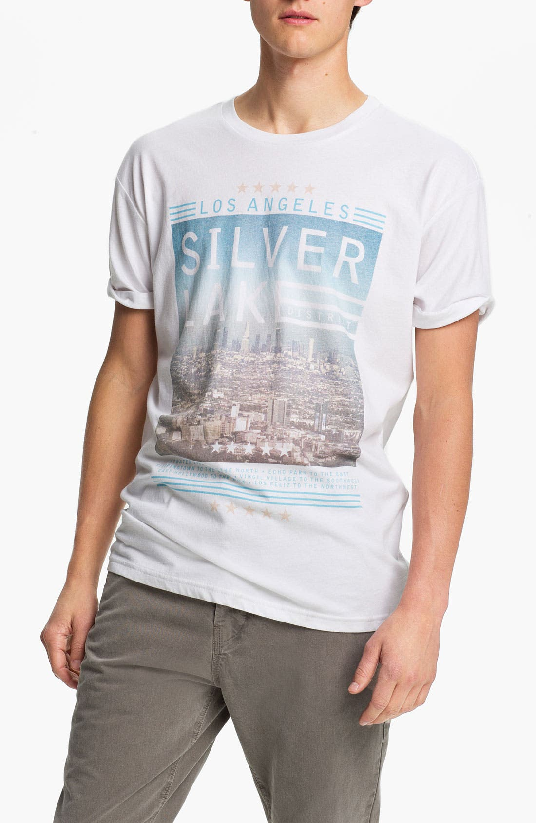 Alternate Image 1 Selected - Topman 'L.A.' Oversized T-Shirt