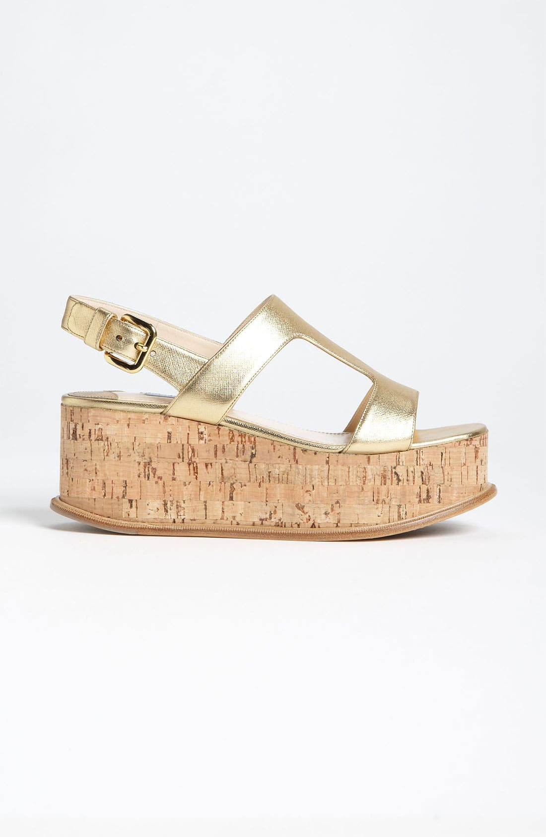 Alternate Image 4  - Prada T-Strap Platform Wedge Sandal