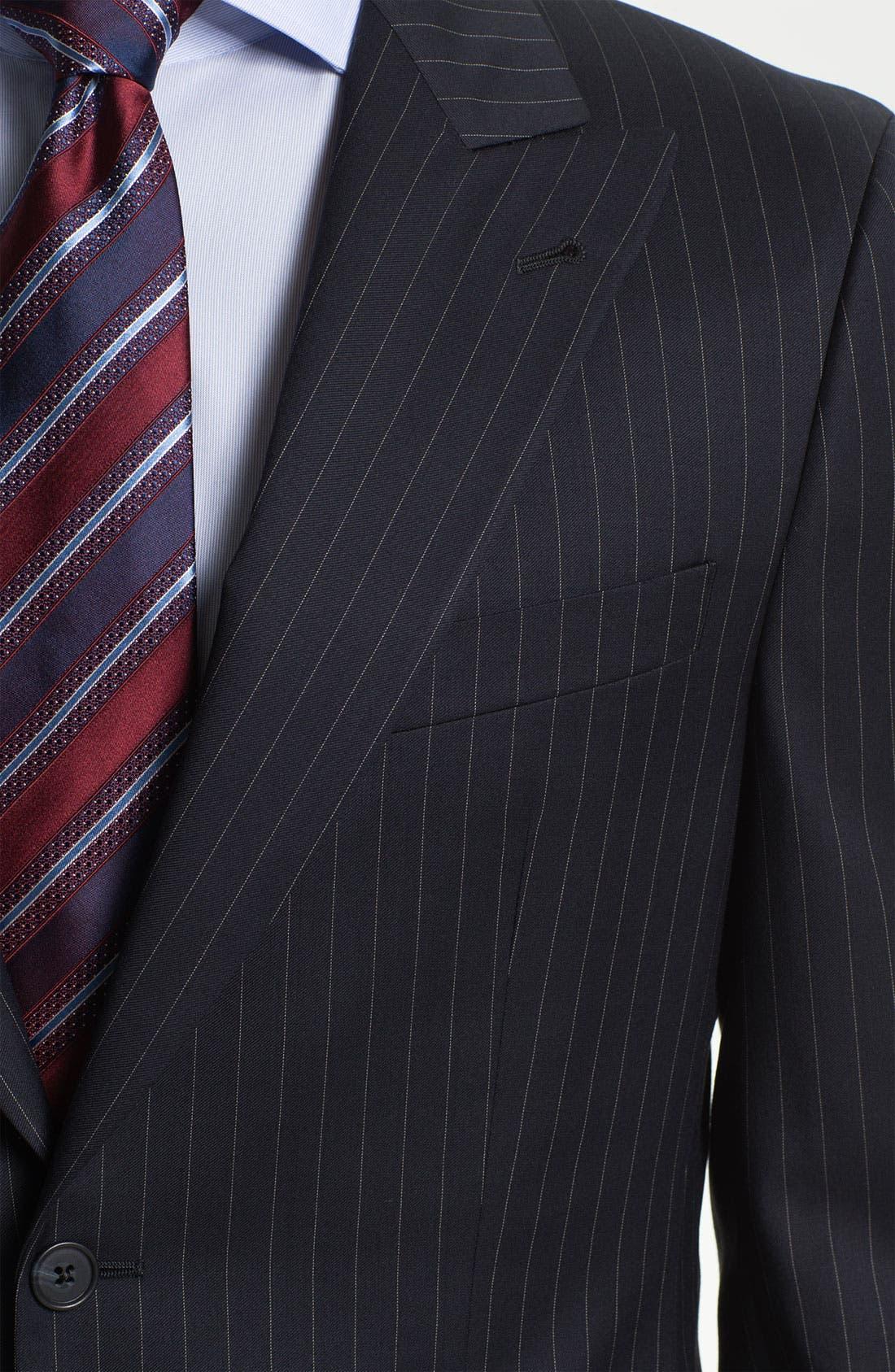 Alternate Image 6  - Joseph Abboud Trim Fit Peak Lapel Stripe Suit
