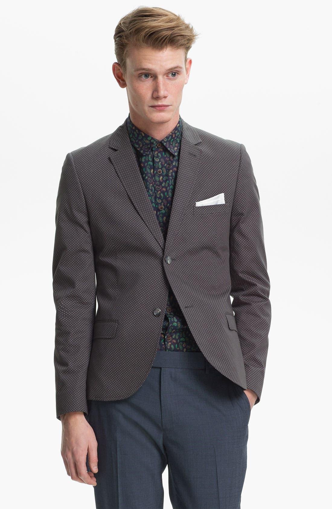 Main Image - Topman Pin Dot Skinny Blazer