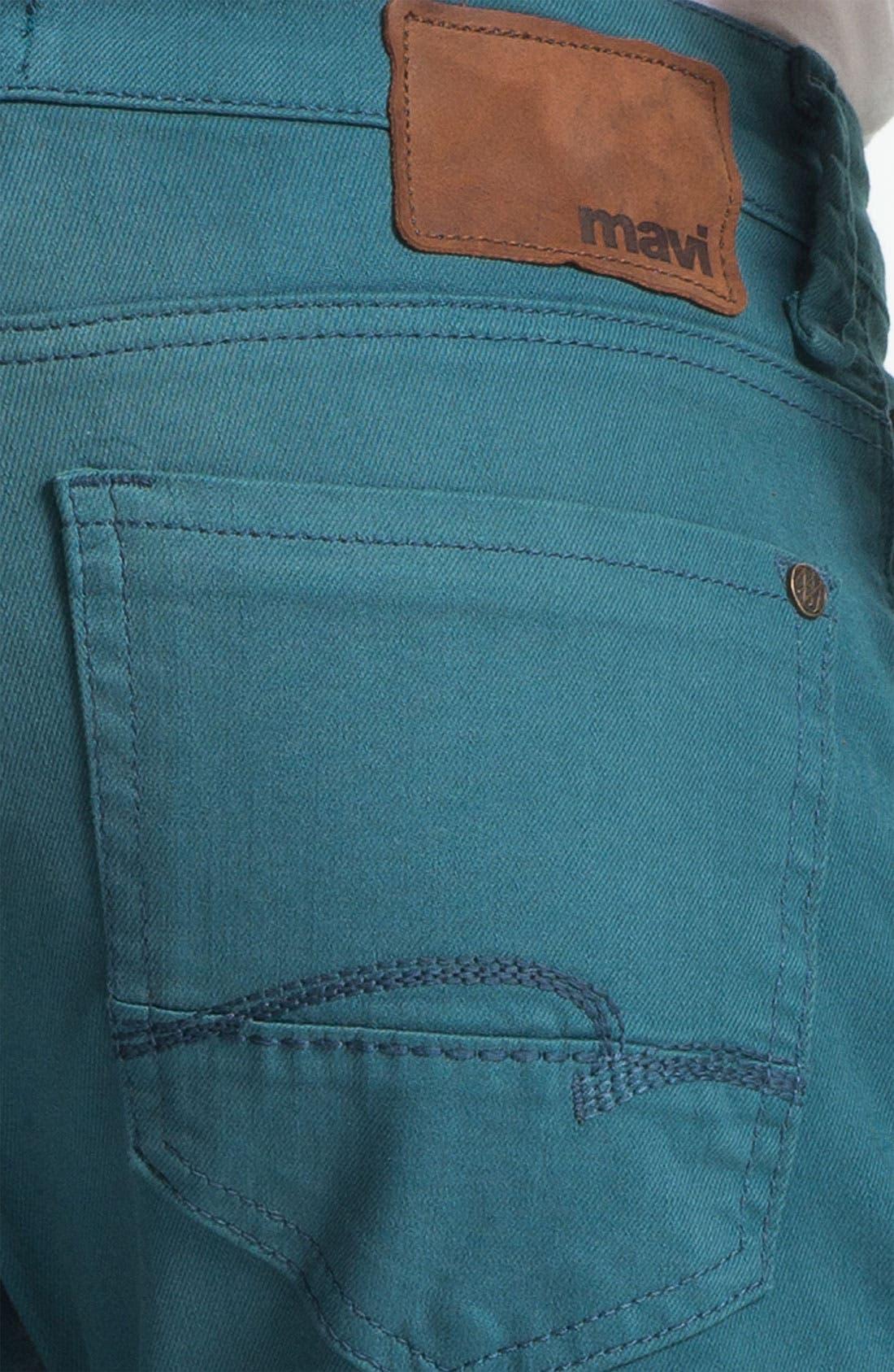 Alternate Image 4  - Mavi Jeans 'Zach' Straight Leg Jeans (Teal)