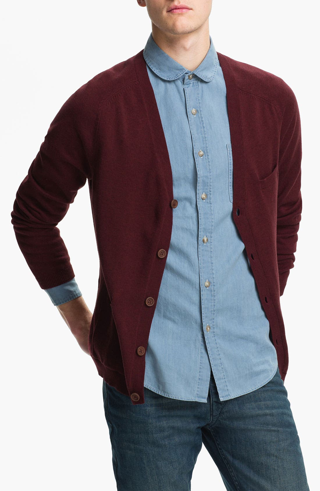Alternate Image 1 Selected - Topman Pocket Cardigan
