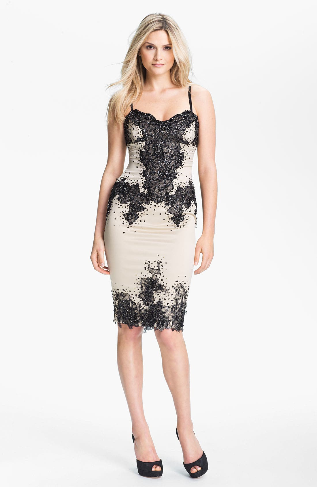 Main Image - Julian Joyce Embellished Charmeuse Slip Dress