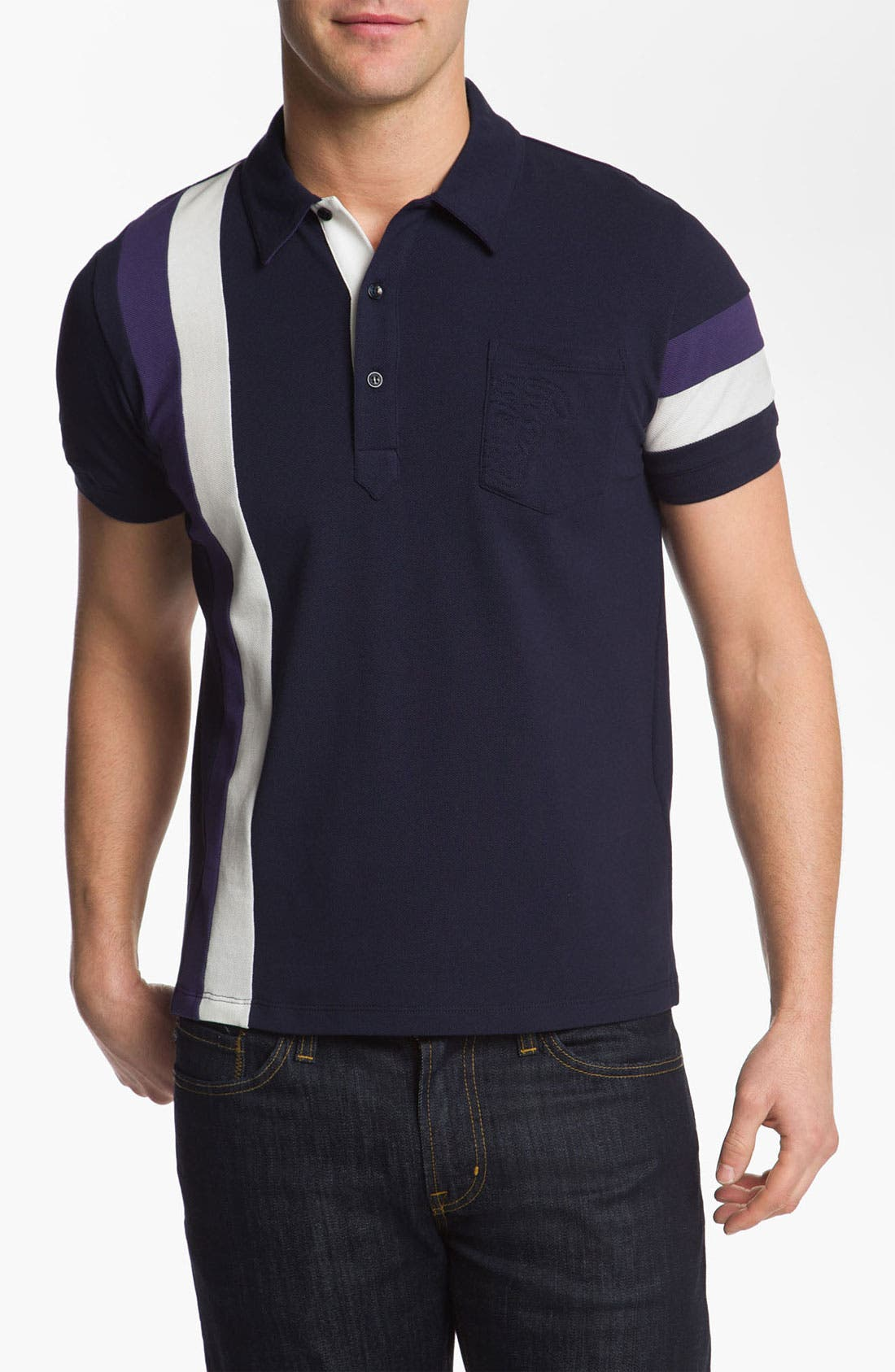 Alternate Image 1 Selected - Versace Coloblock Polo