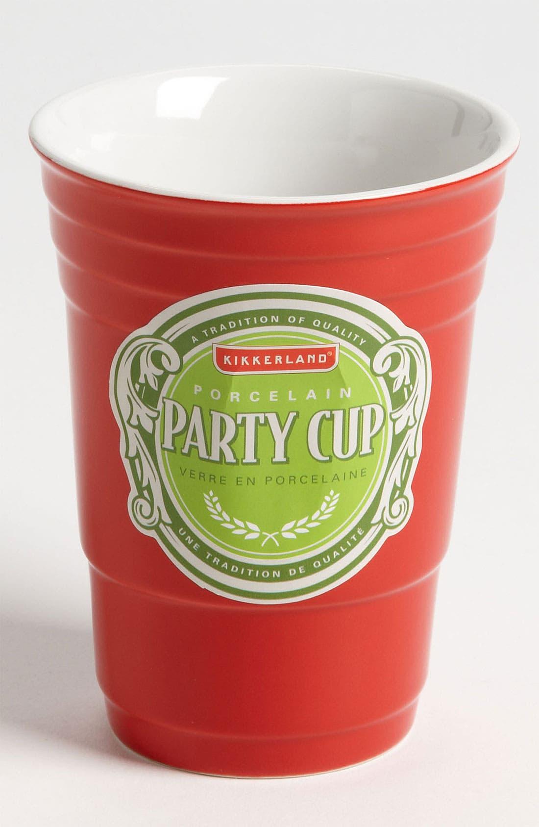 Alternate Image 1 Selected - Kikkerland Design Red Porcelain Party Cup