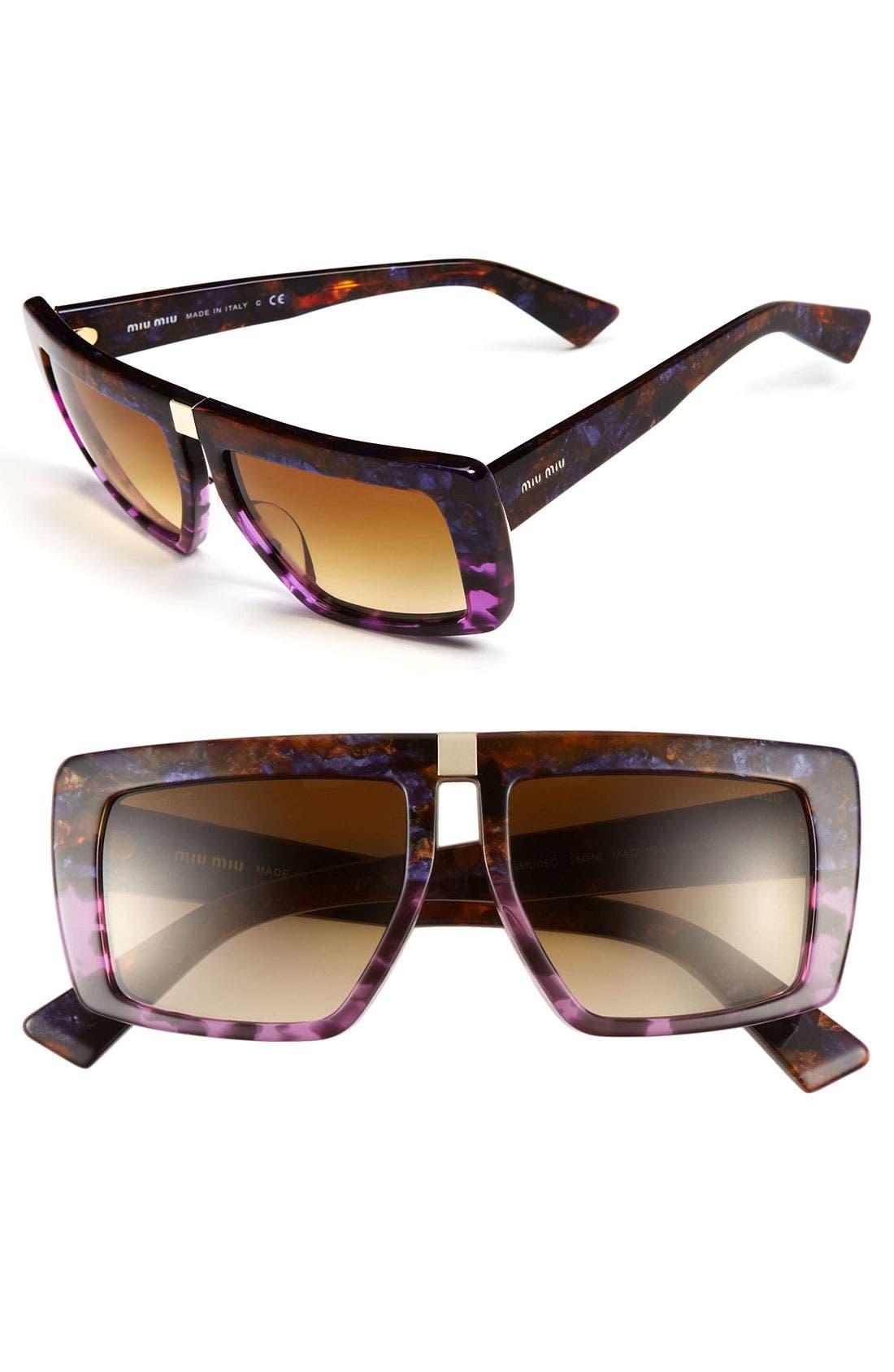 Alternate Image 1 Selected - Miu Miu Geometric Sunglasses