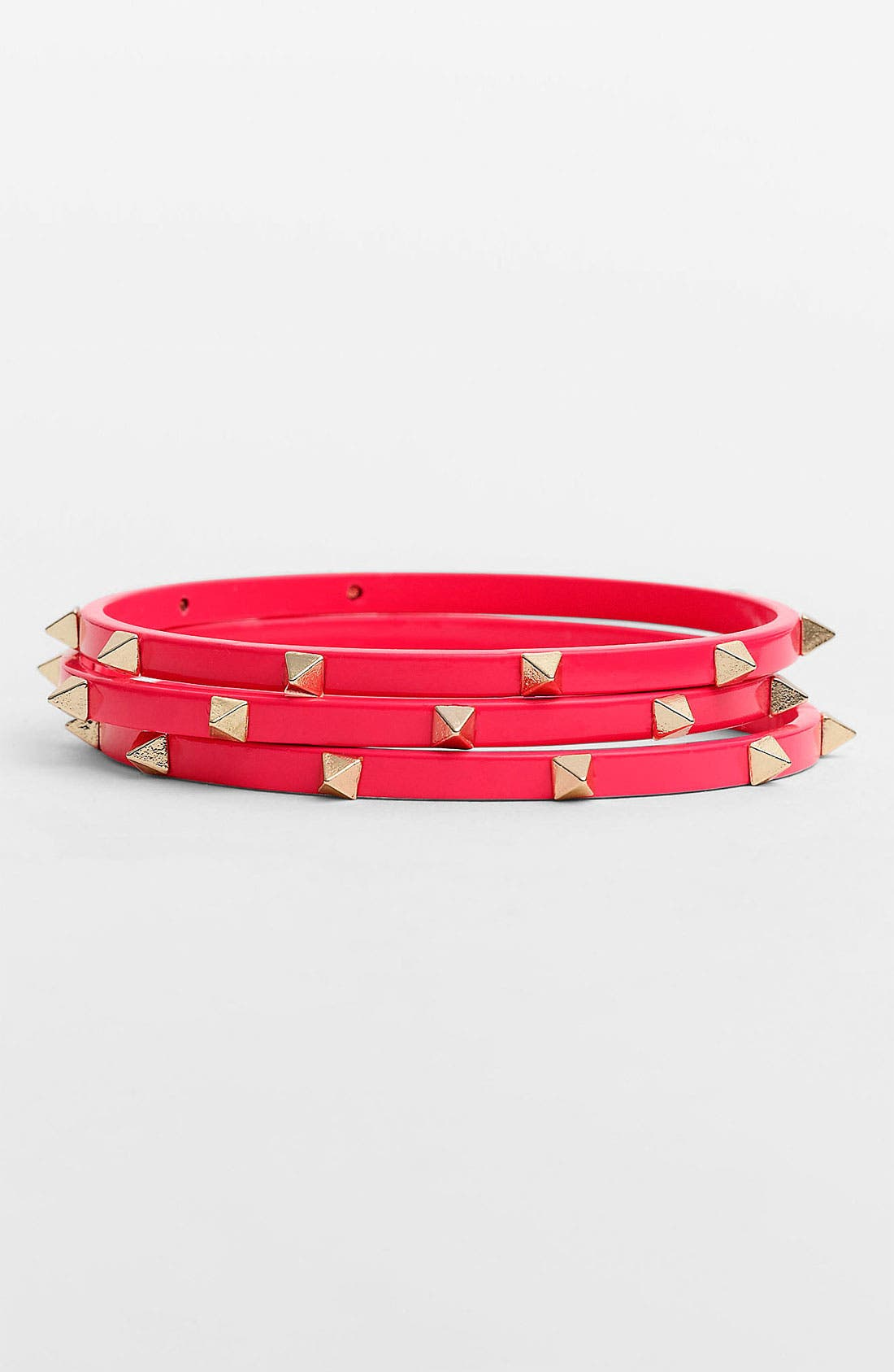 Main Image - Cara Studded Bangles (Set of 3)