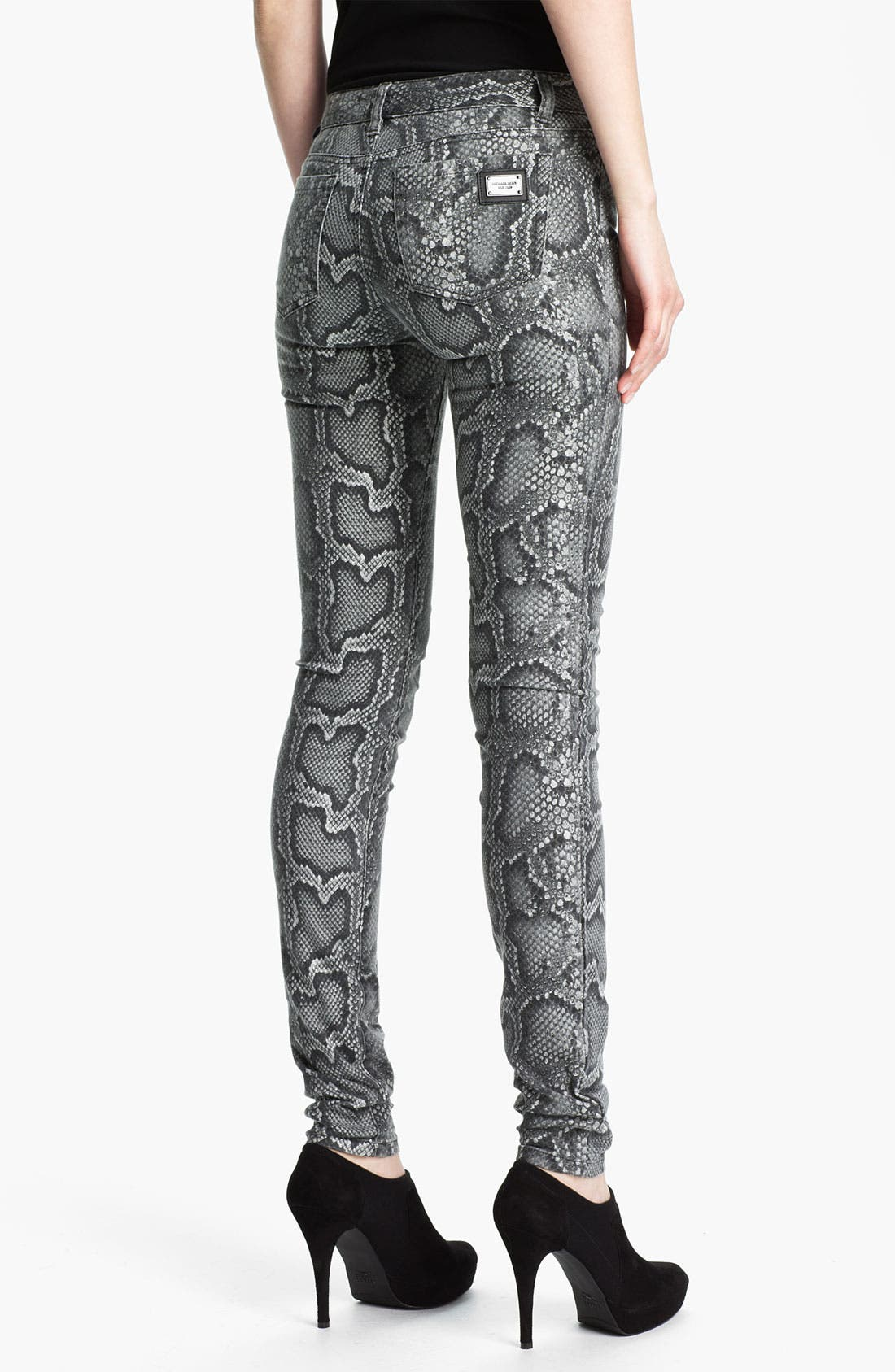 Alternate Image 2  - MICHAEL Michael Kors Cobra Print Skinny Jeans (Petite)