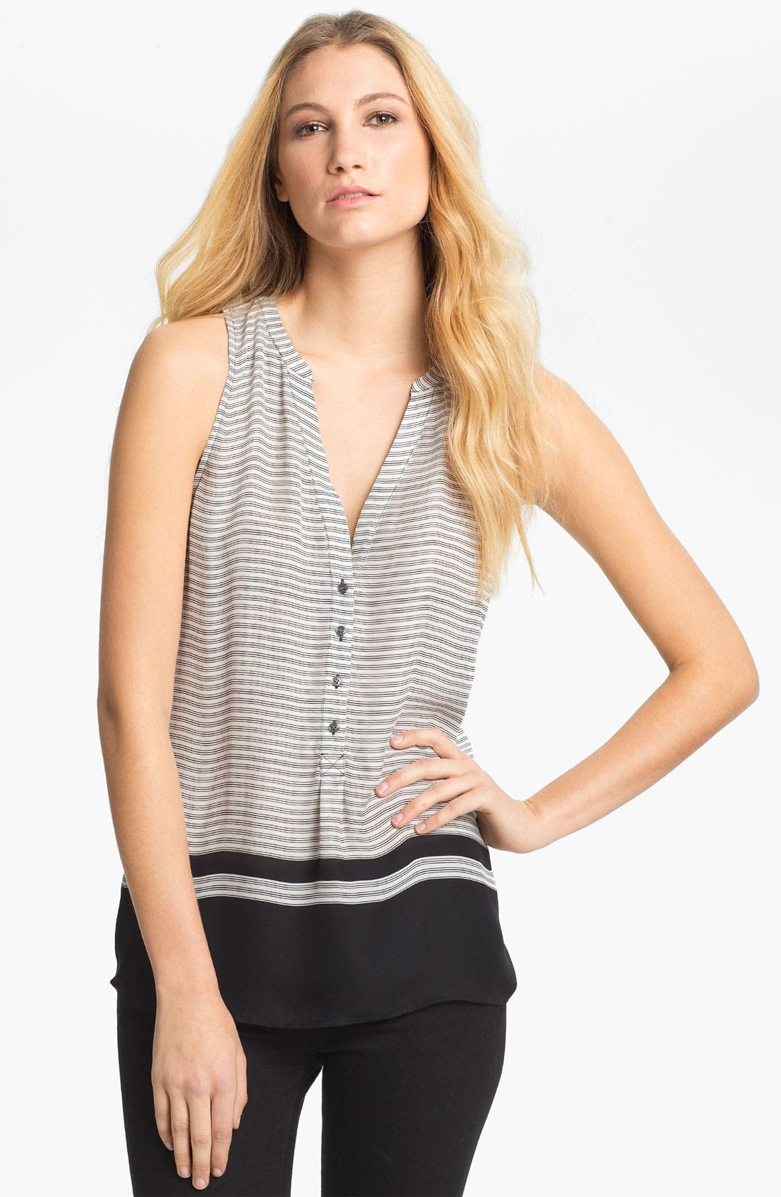 Alternate Image 1 Selected - Joie 'Ameritt B' Sleeveless Silk Top