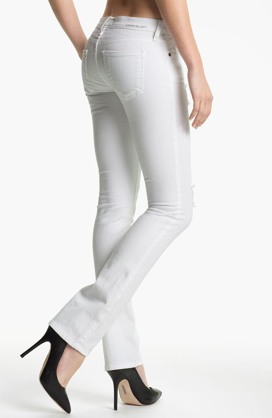 Alternate Image 2  - Current/Elliott 'The Straight Leg' Destroyed Stretch Jeans (Sugar Destroy)