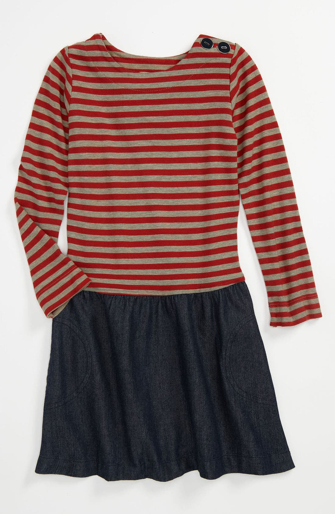 Main Image - Anthem of the Ants 'Museum' Stripe Dress (Little Girls & Big Girls)