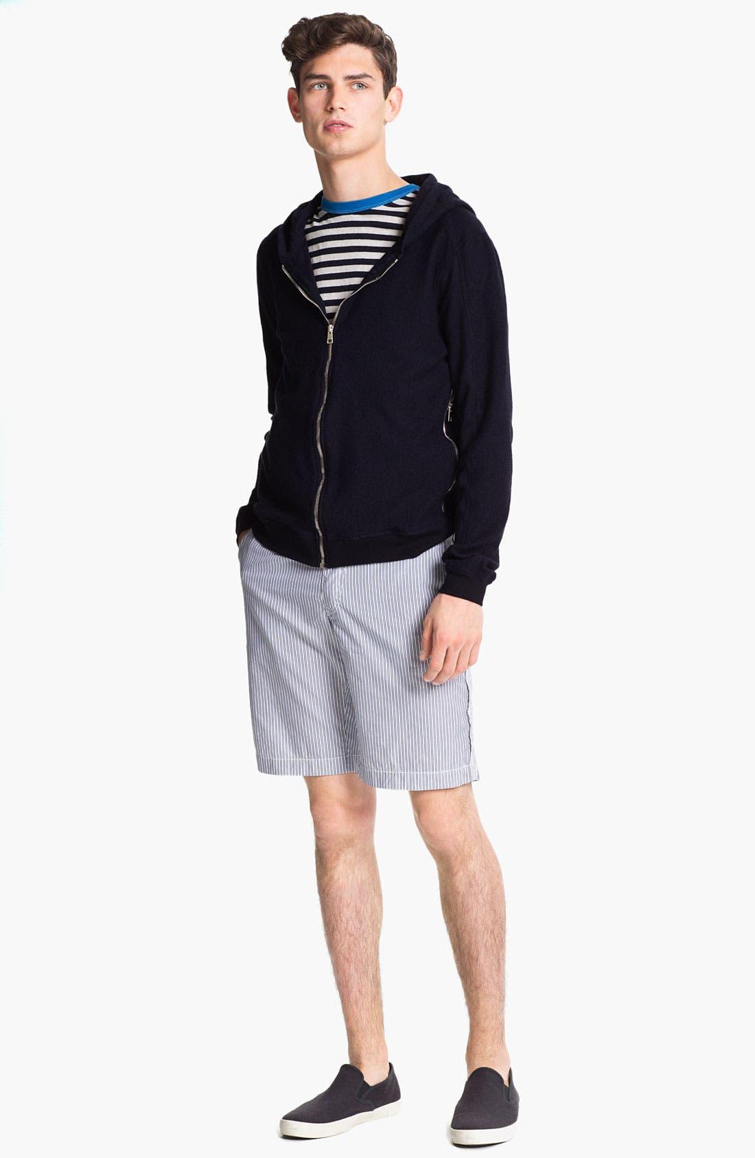 Alternate Image 4  - U Clothing 'Beau' Stripe Pocket Linen & Cotton T-Shirt