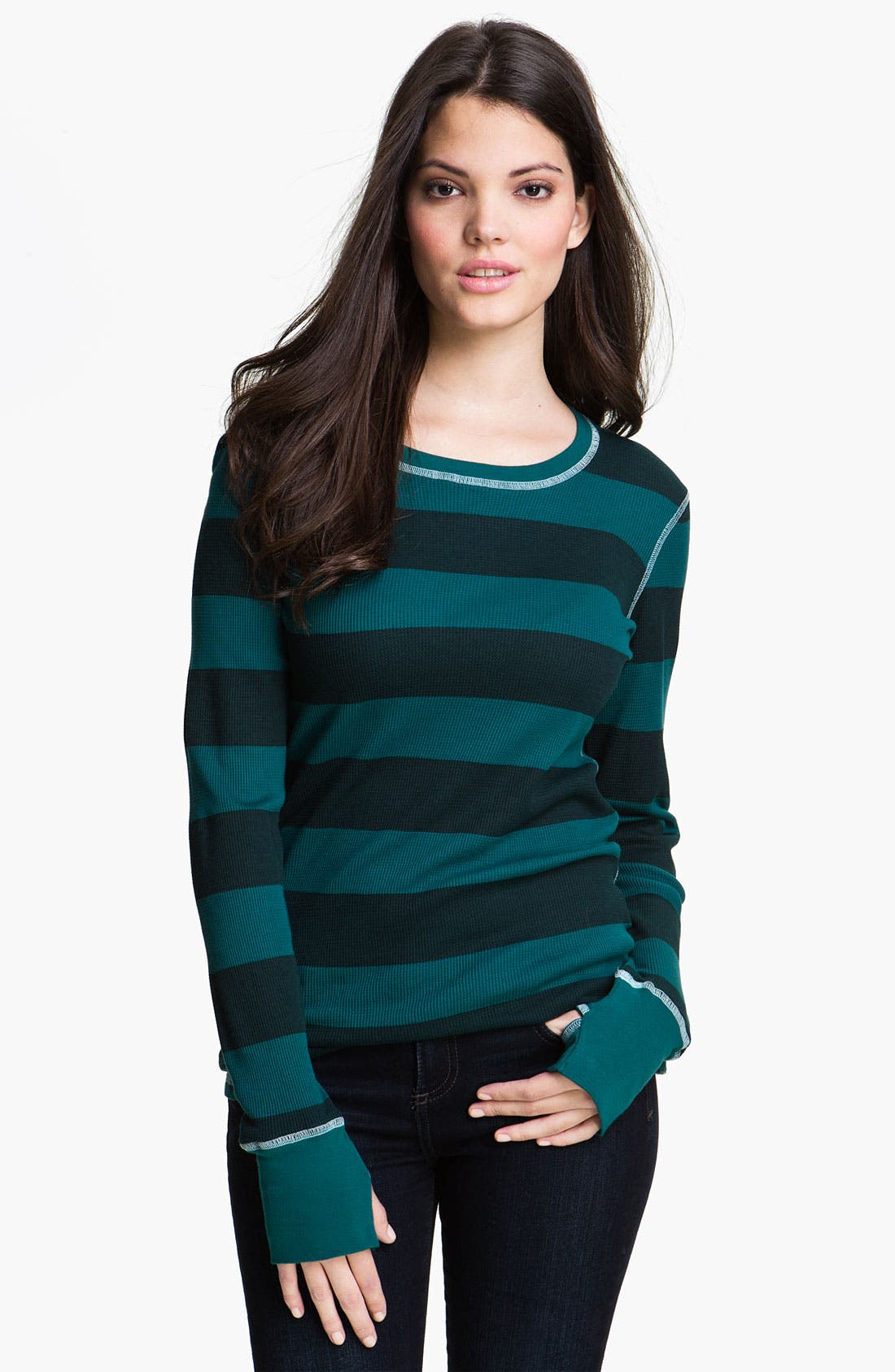 Alternate Image 1 Selected - Allen Allen Rugby Stripe Top