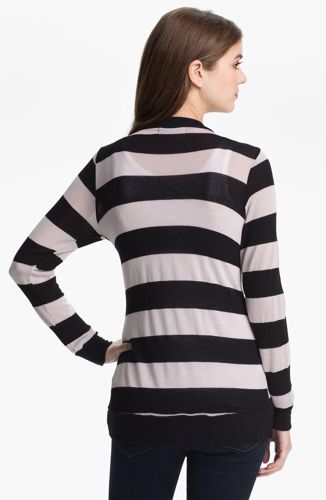 Alternate Image 2  - Olivia Moon Asymmetrical Stripe Cardigan