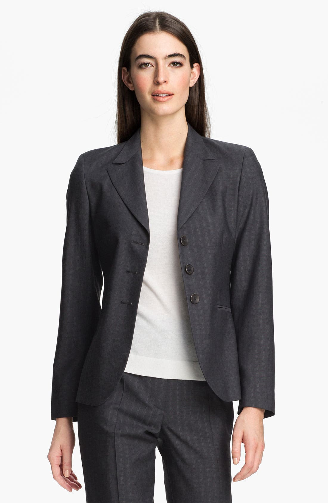 Main Image - Zanella 'Tracy' Tonal Stripe Virgin Wool Jacket