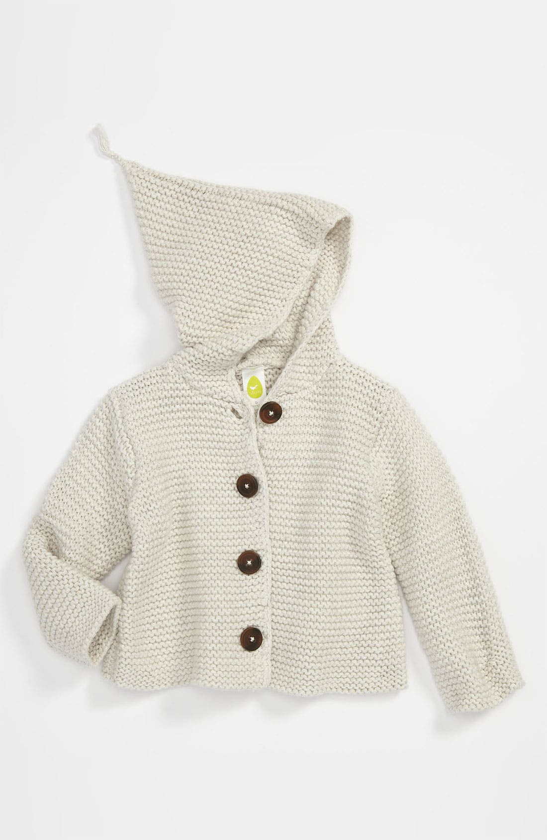 Alternate Image 1 Selected - Stem Baby 'Lofty' Organic Cotton Hooded Cardigan (Baby Boys) (Nordstrom Exclusive)