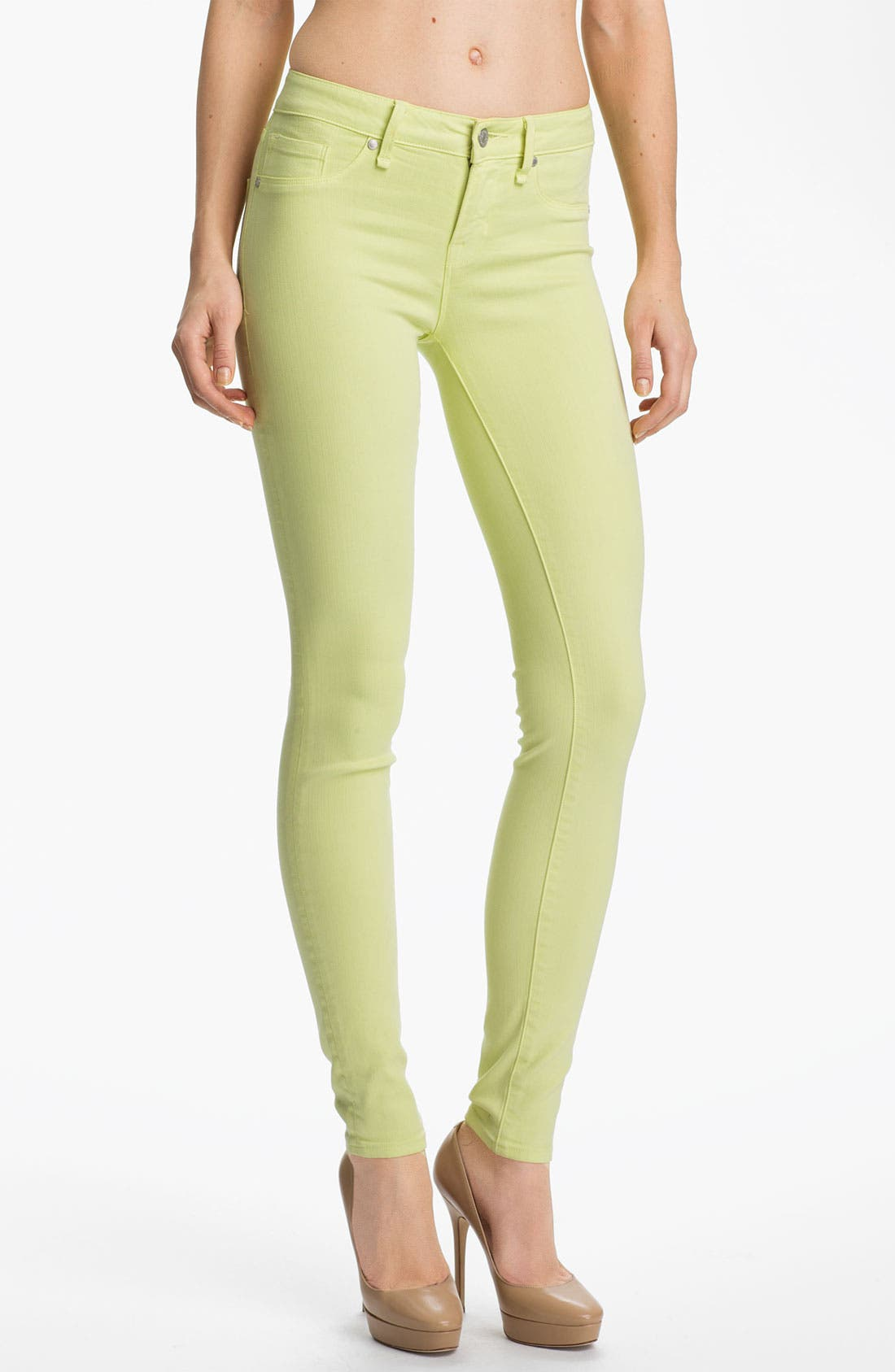 Main Image - MARC BY MARC JACOBS 'Stick' Skinny Jeans (Lemon Sorbet)