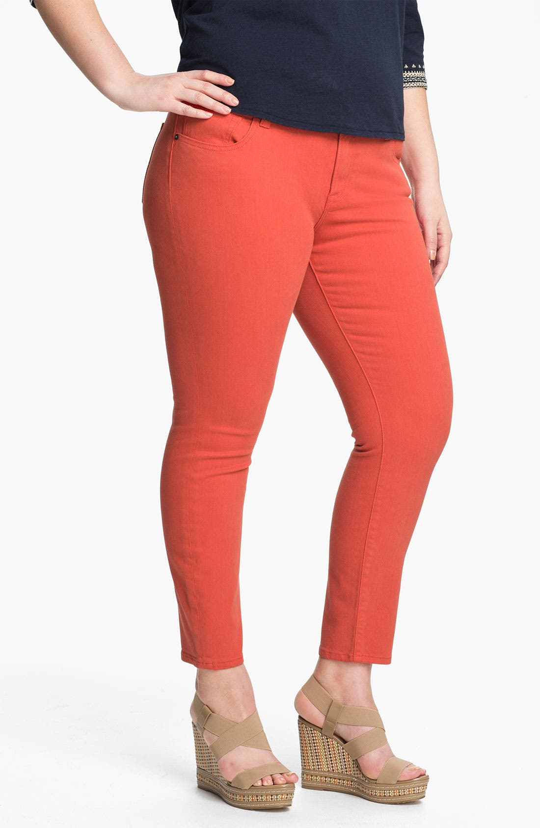 Main Image - Lucky Brand 'Ginger' Skinny Jeans (Plus)