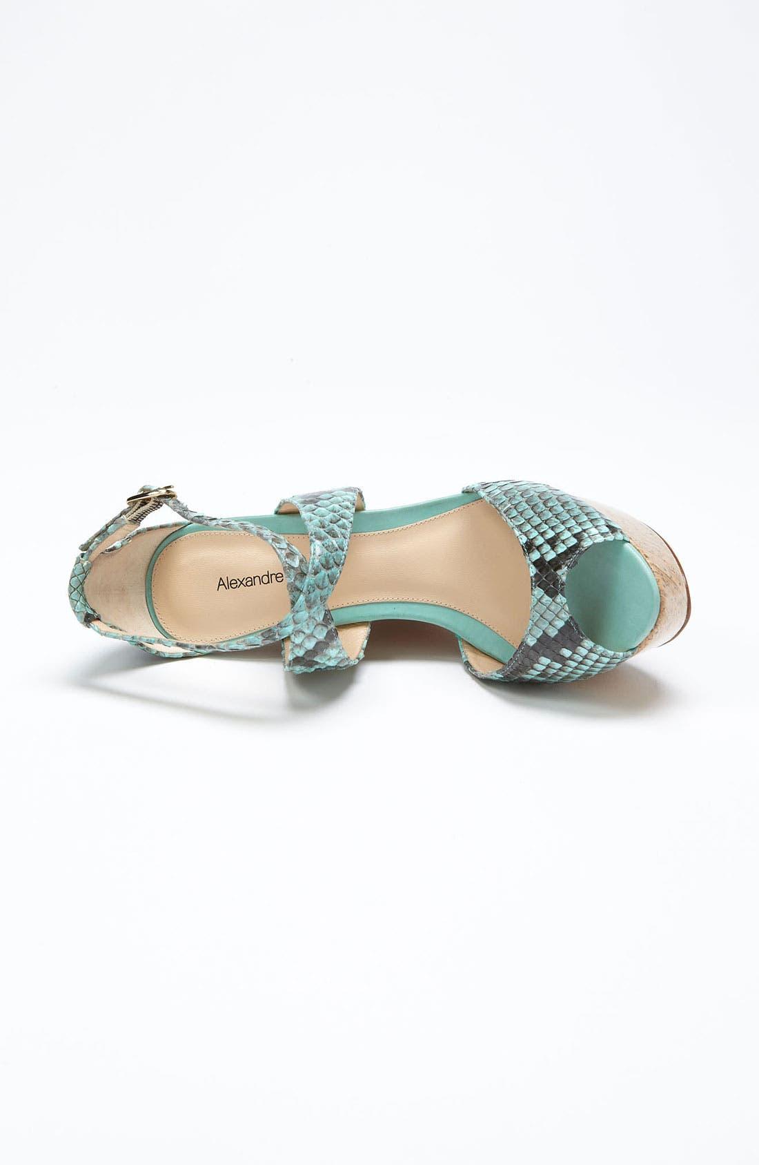 Alternate Image 3  - Alexandre Birman Cork Wedge Sandal