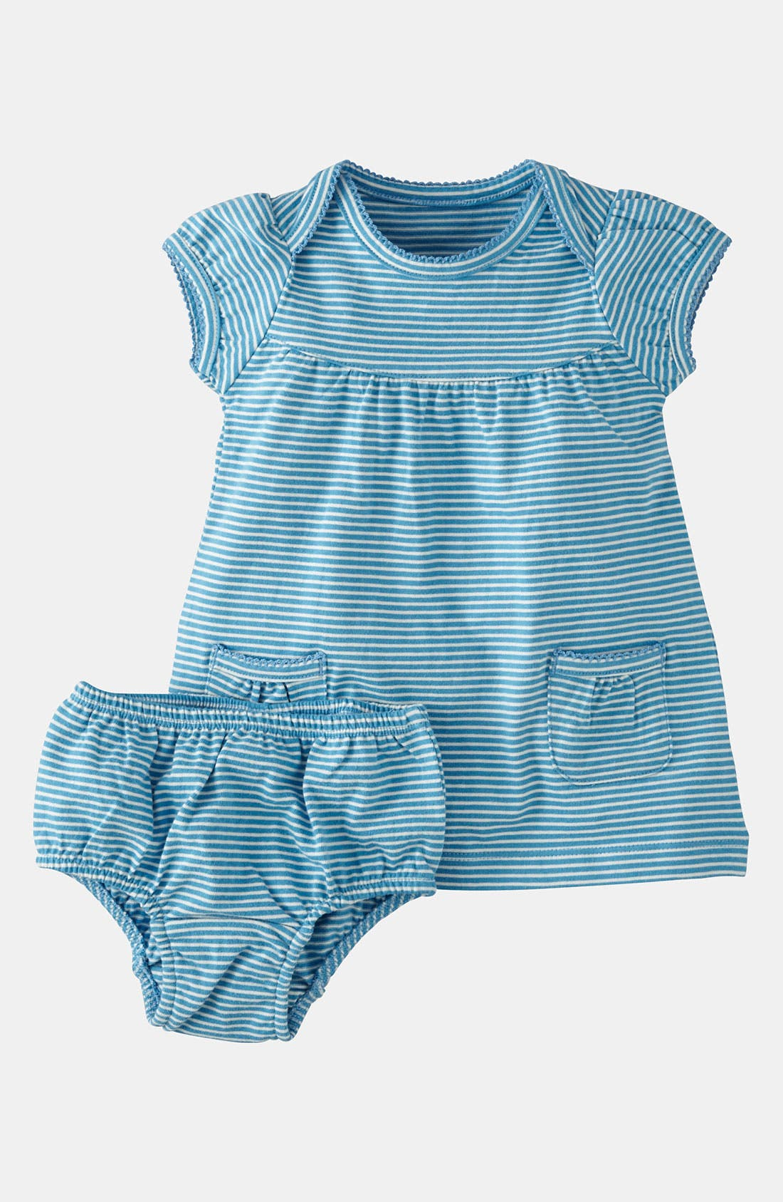 Main Image - Mini Boden 'Simple' Jersey Dress & Bloomers (Baby)