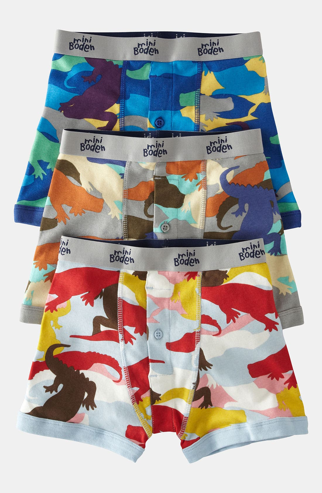 Alternate Image 1 Selected - Mini Boden Boxers (3-Pack) (Toddler, Little Boys & Big Boys)