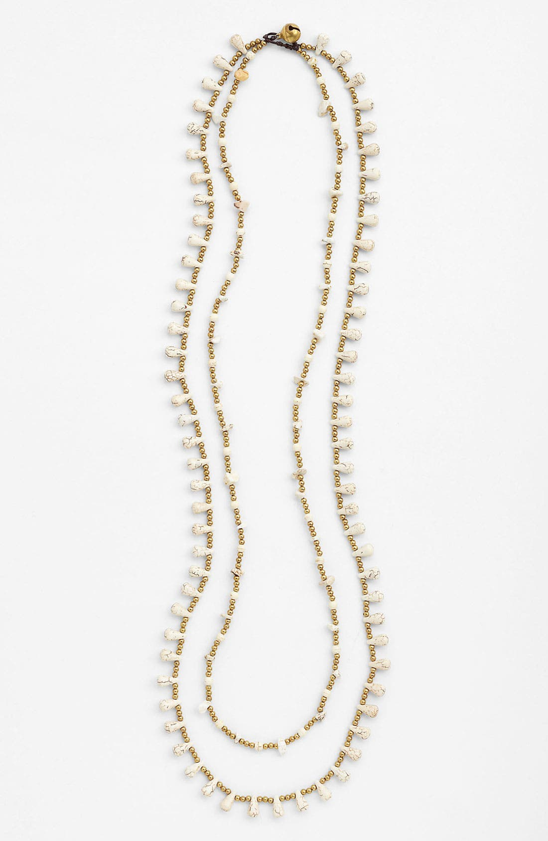 Alternate Image 1 Selected - Panacea Two Strand Golden Bead Rope Necklace
