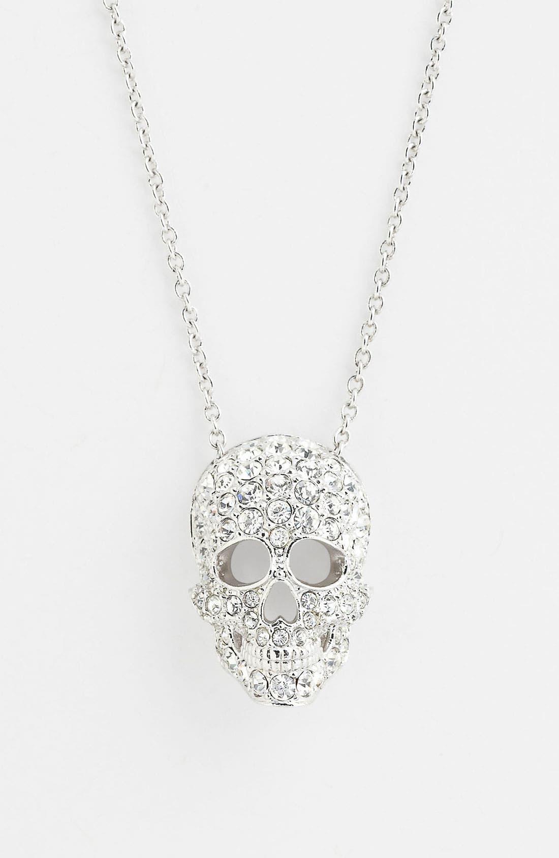 Alternate Image 1 Selected - Nadri 'Skull' Pendant Necklace (Nordstrom Exclusive)