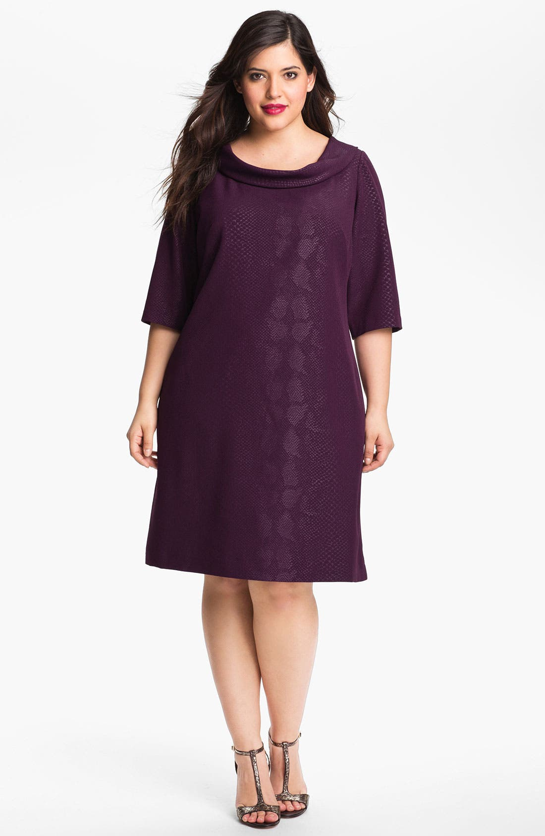 Alternate Image 1 Selected - Adrianna Papell Animal Print Shift Dress (Plus)