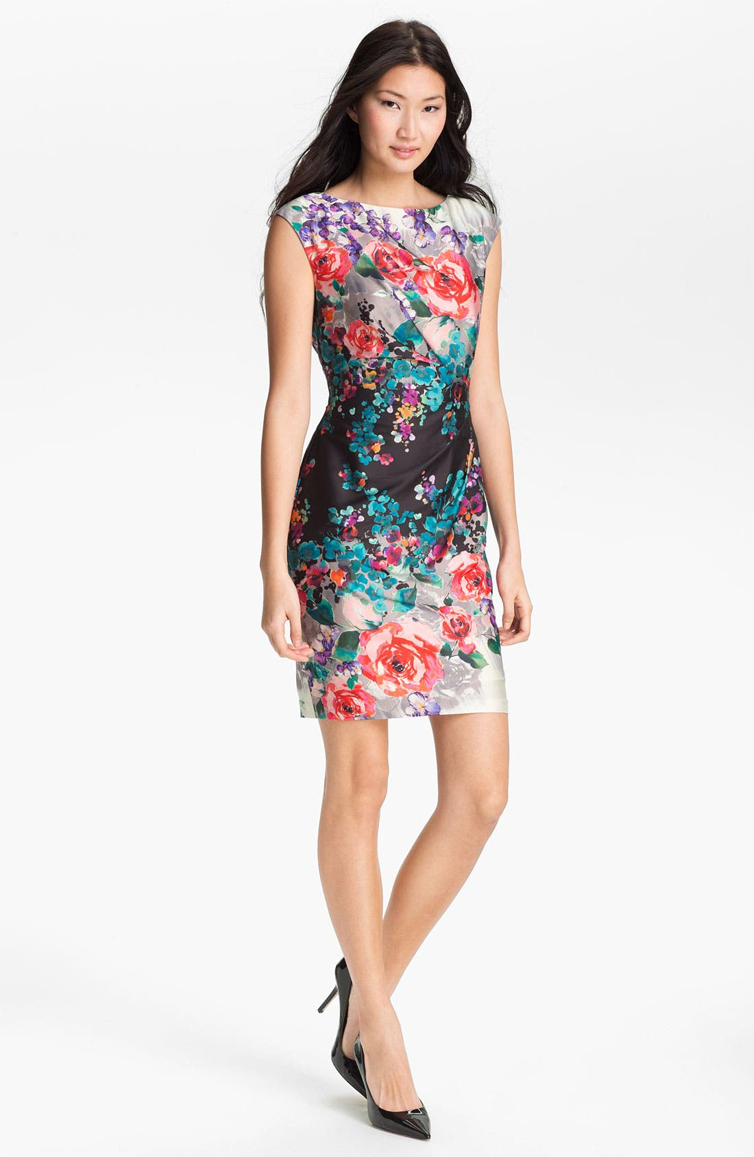 Alternate Image 1 Selected - Suzi Chin for Maggy Boutique Print Sheath Dress