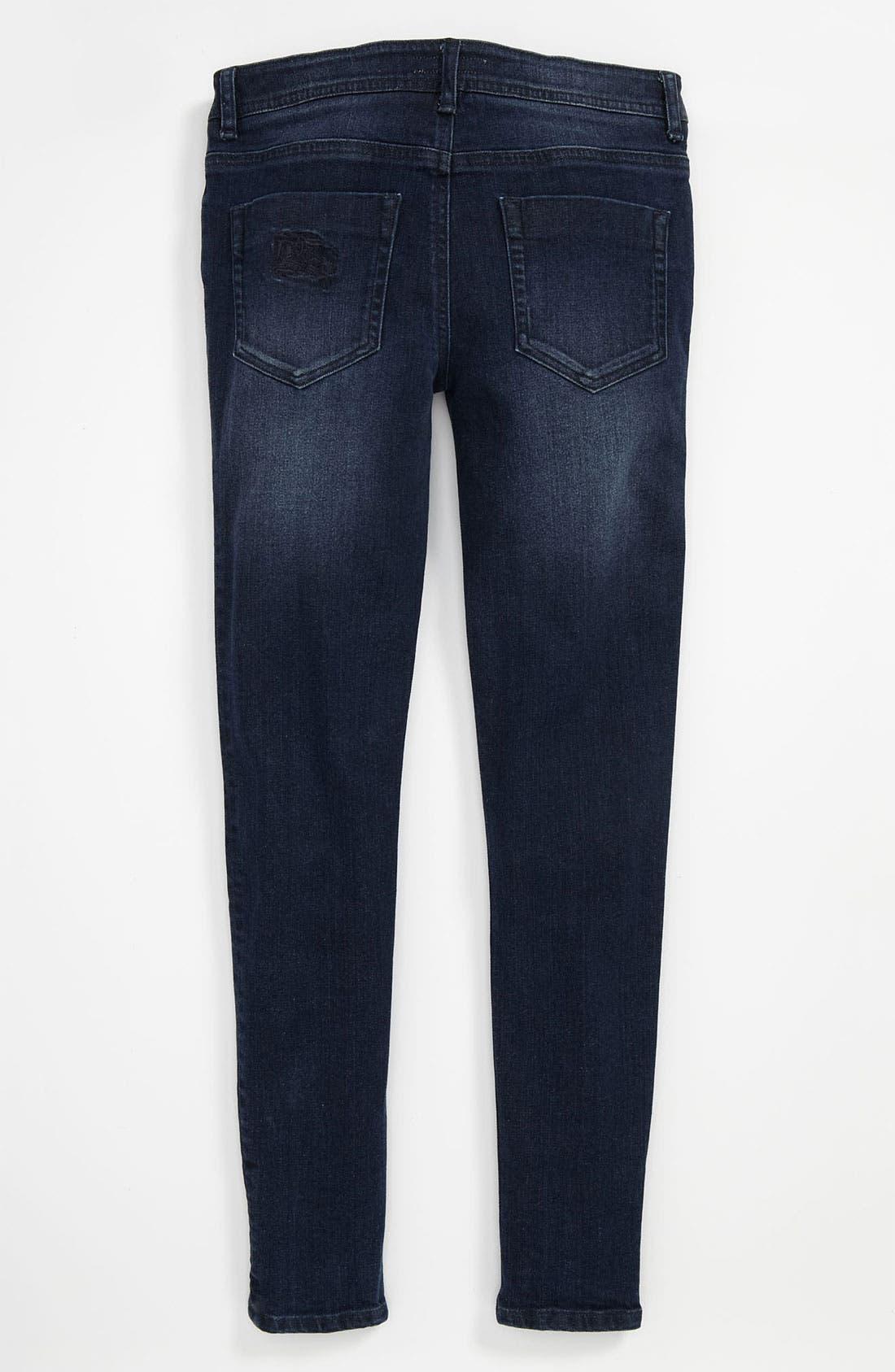 Alternate Image 1 Selected - Burberry 'Mini Langley' Skinny Jeans (Little Girls & Big Girls)