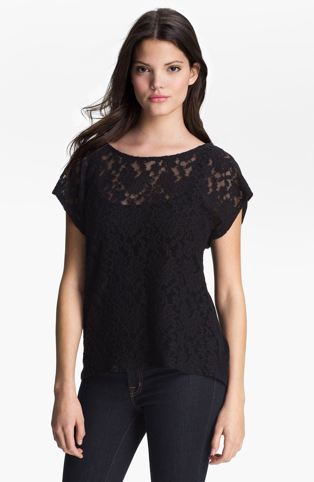 Alternate Image 1 Selected - MOD.lusive Lace Front Top