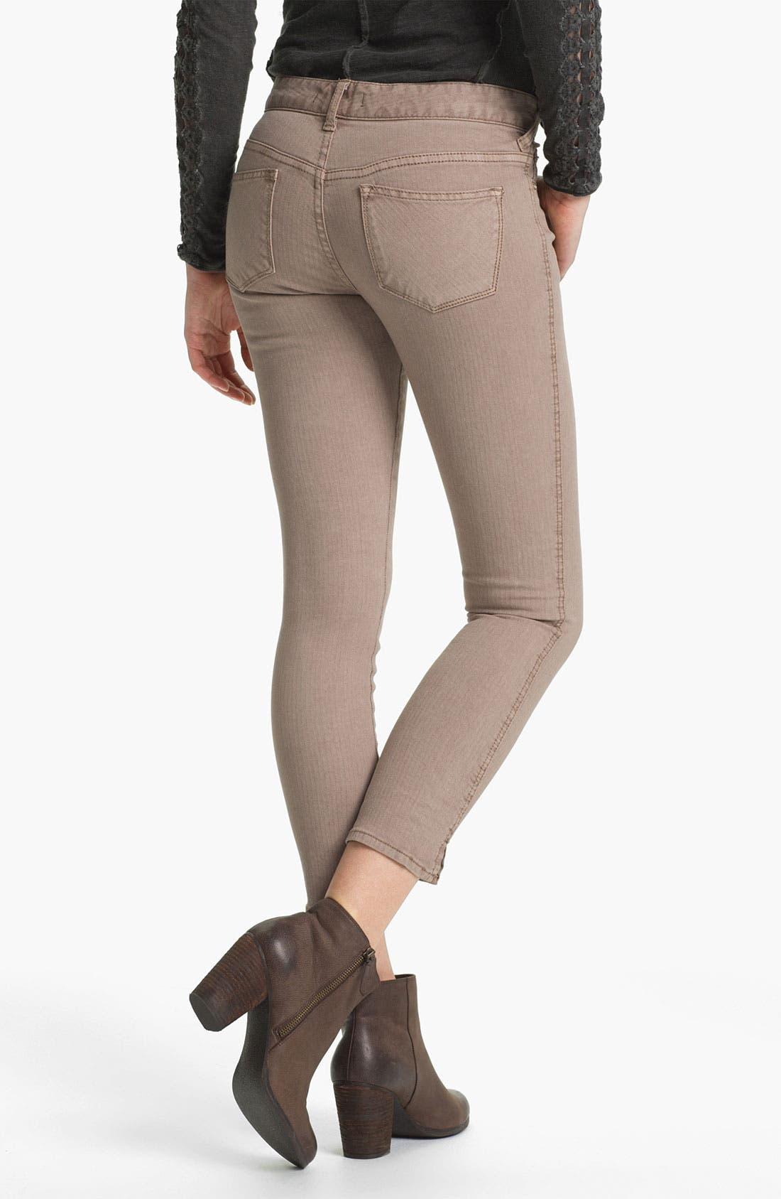 Alternate Image 2  - Free People Crop Stretch Denim Skinny Jeans (Liza)