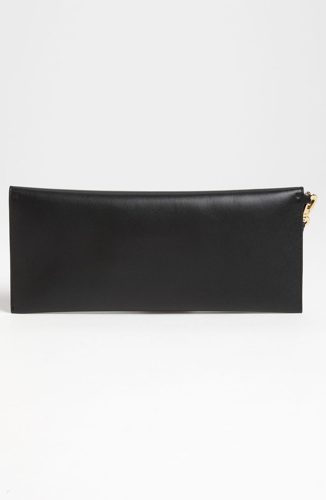 Alternate Image 4  - Salvatore Ferragamo 'Afef' Leather Envelope Clutch
