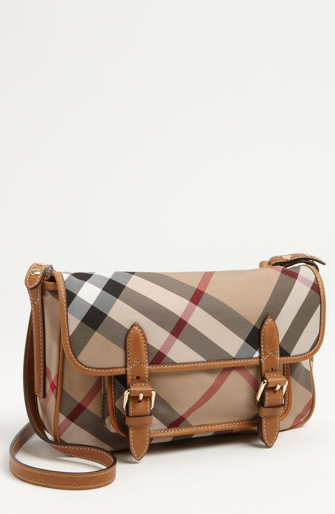 Main Image - Burberry 'Liv' Check Print Crossbody Bag (Girls)