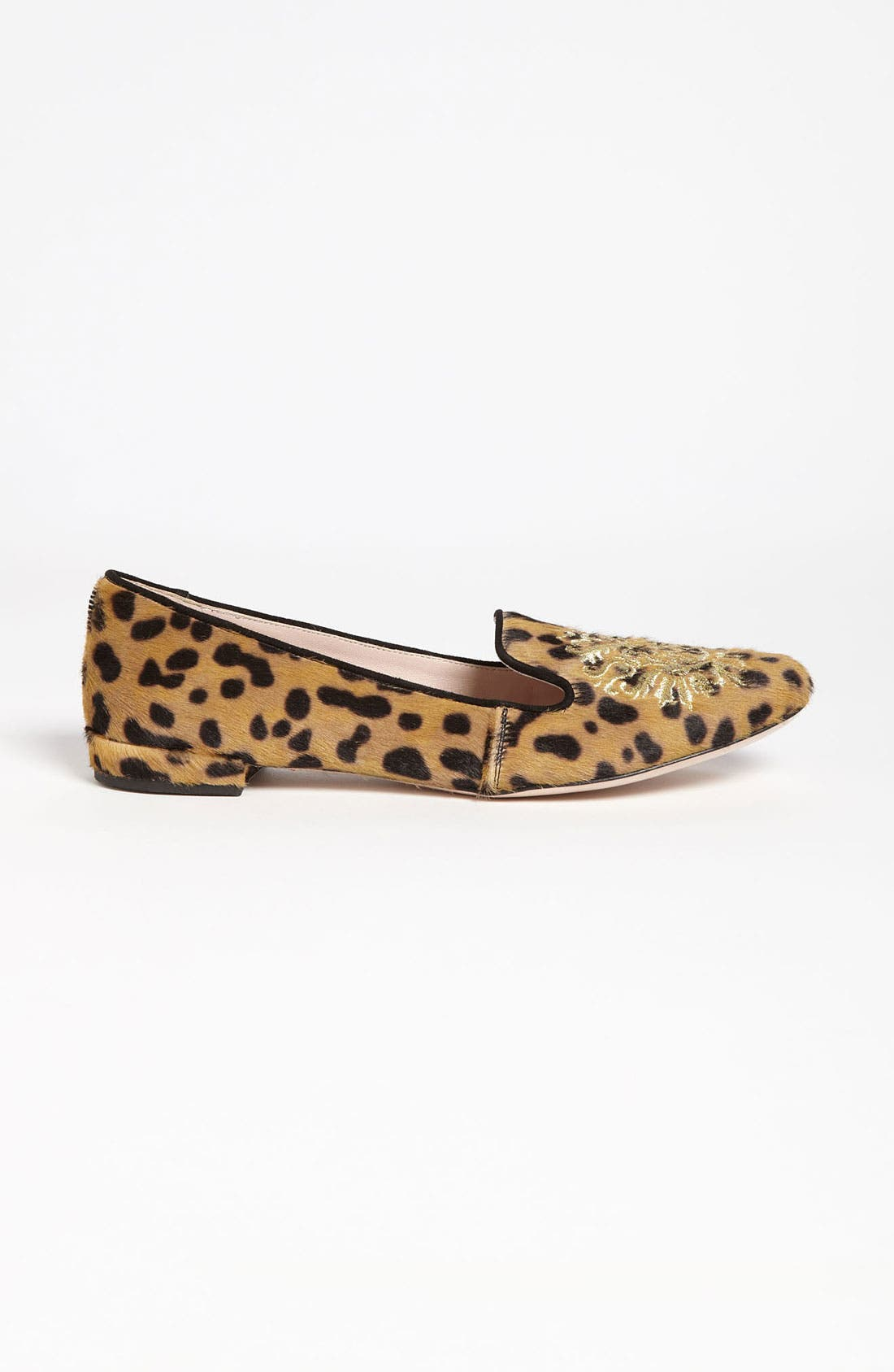Alternate Image 4  - Miu Miu Leopard Crest Smoking Flat