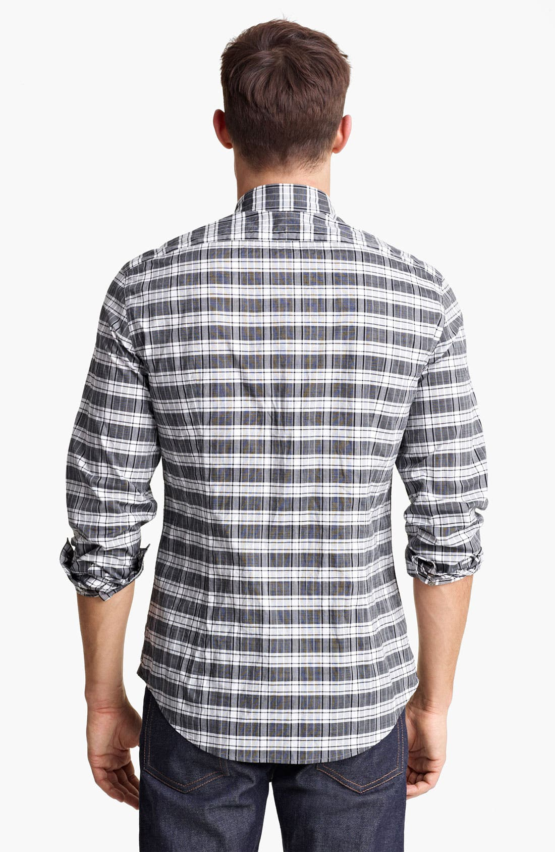 Alternate Image 2  - John Varvatos Collection Classic Fit Plaid Sport Shirt