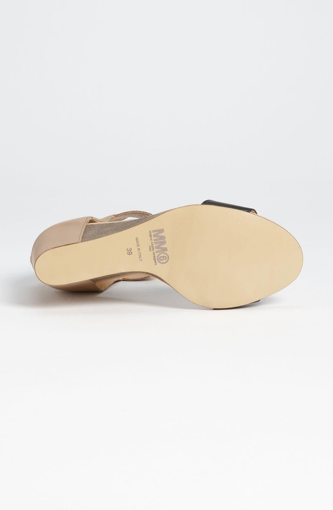Alternate Image 4  - MM6 Maison Margiela Two Tone Wedge Sandal